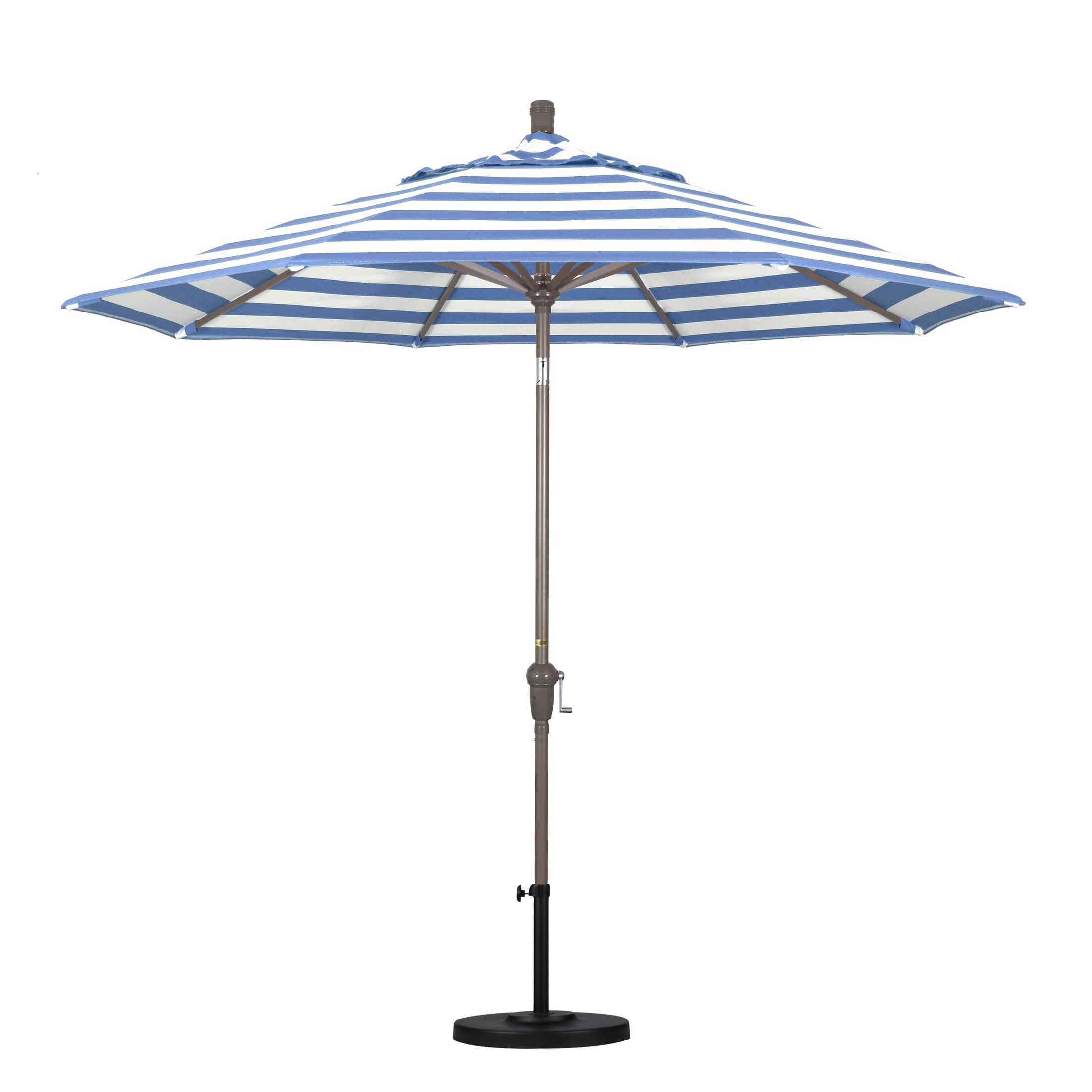 8.5' Market Umbrella Fabric Color: Regatta, Frame Color: Champagne