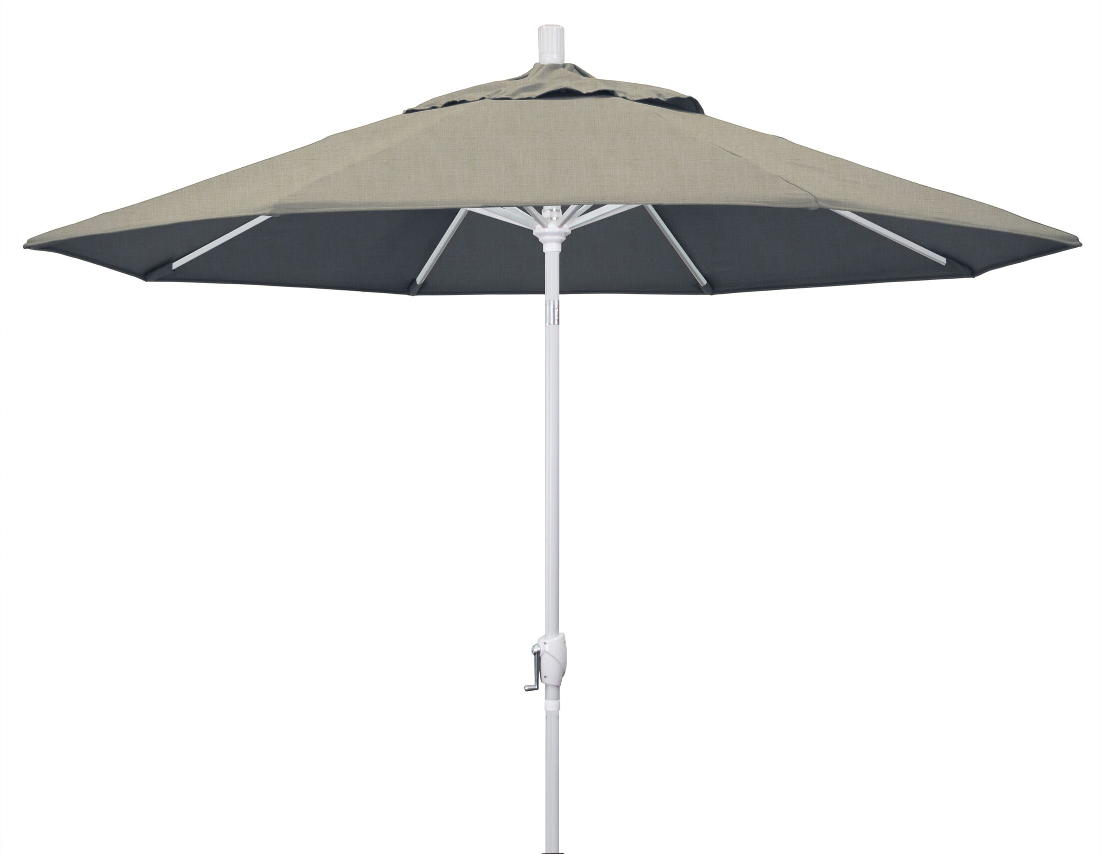Cello 9' Market Umbrella Frame Finish: Matted White, Fabric: Sunbrella - Spectrum Dove