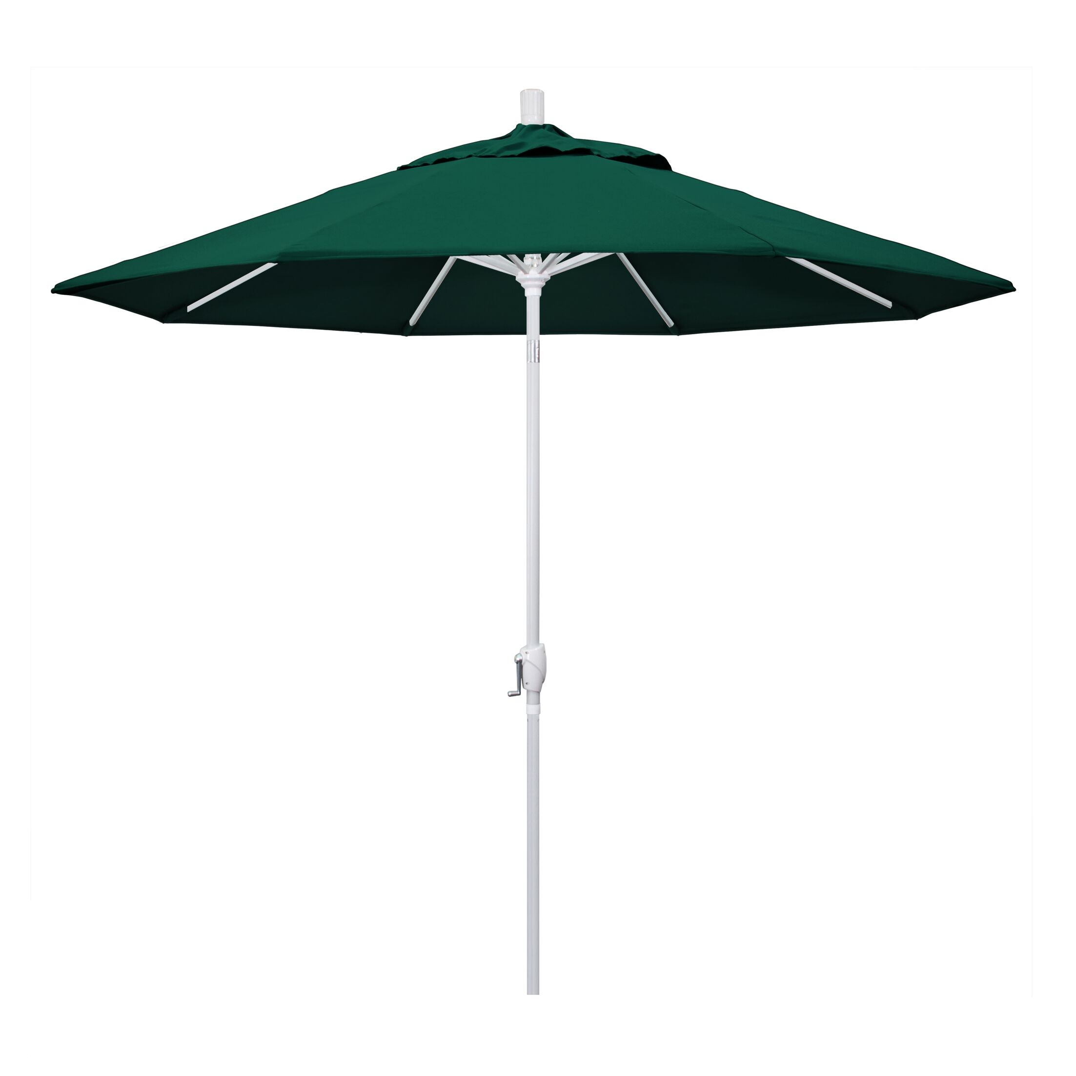 Cello 9' Market Umbrella Frame Finish: Matted White, Fabric: Forest Green