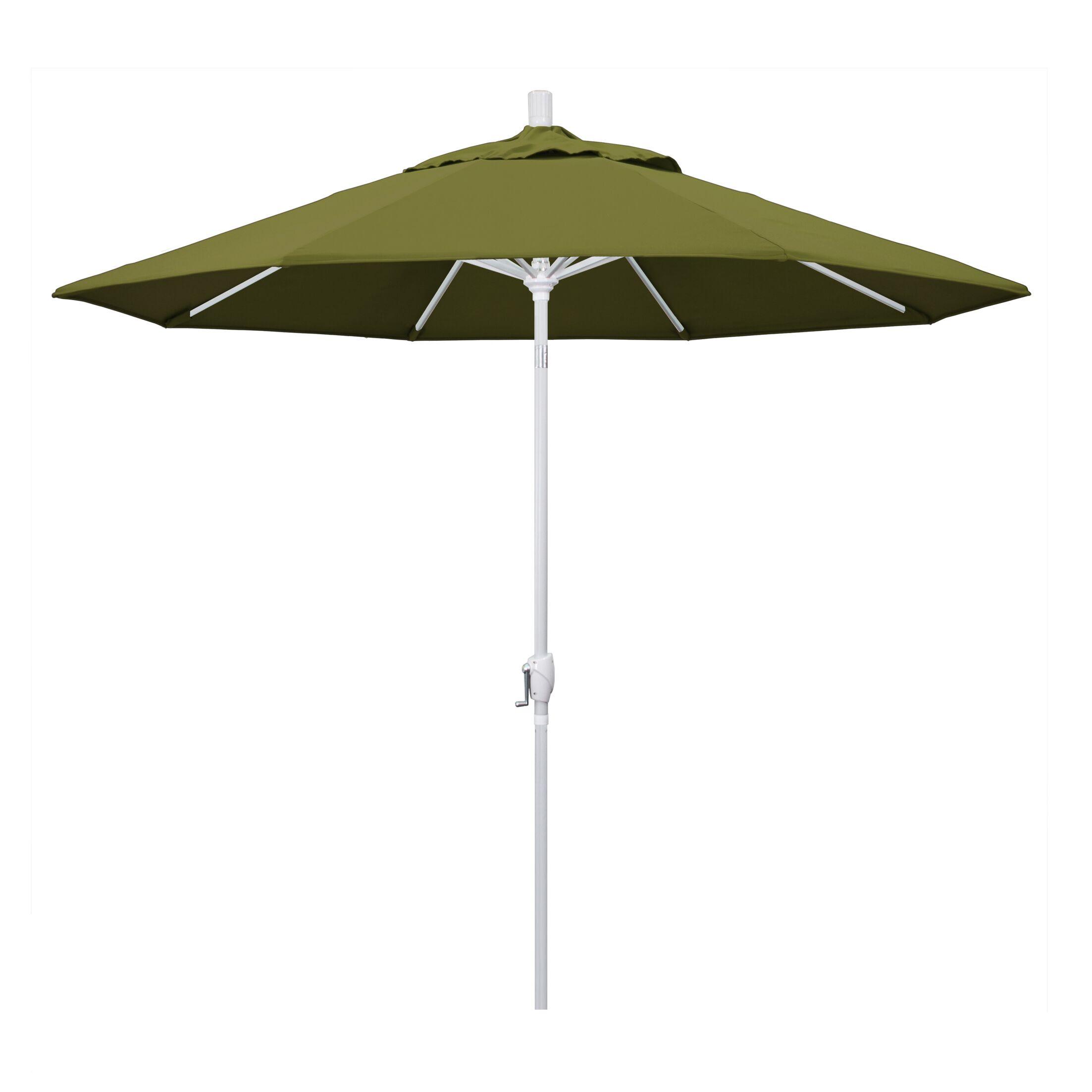 Cello 9' Market Umbrella Fabric: Palm, Frame Finish: Matted White