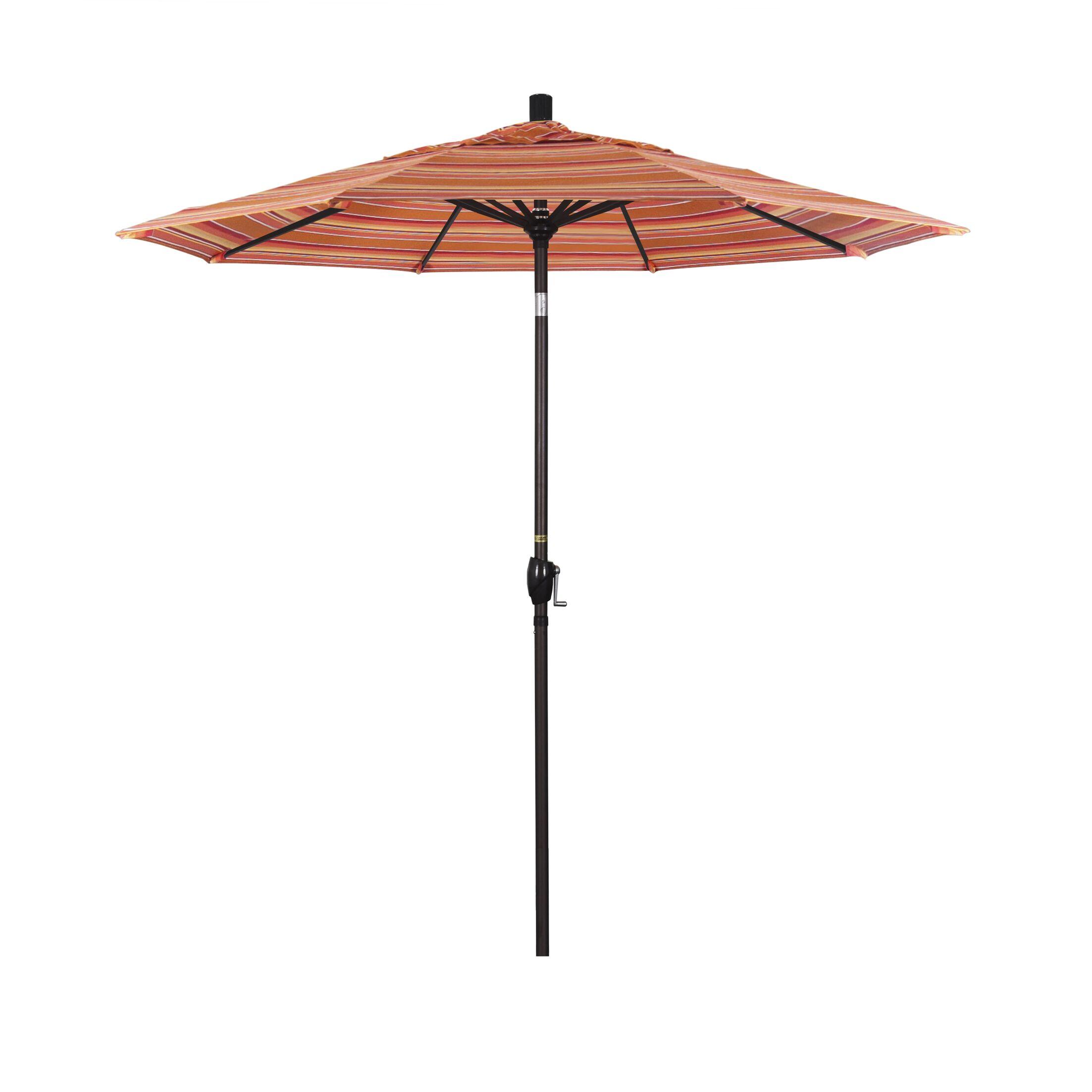 Cello 7.5' Market Umbrella Frame Finish: Matte Black, Color: Dolce Mango