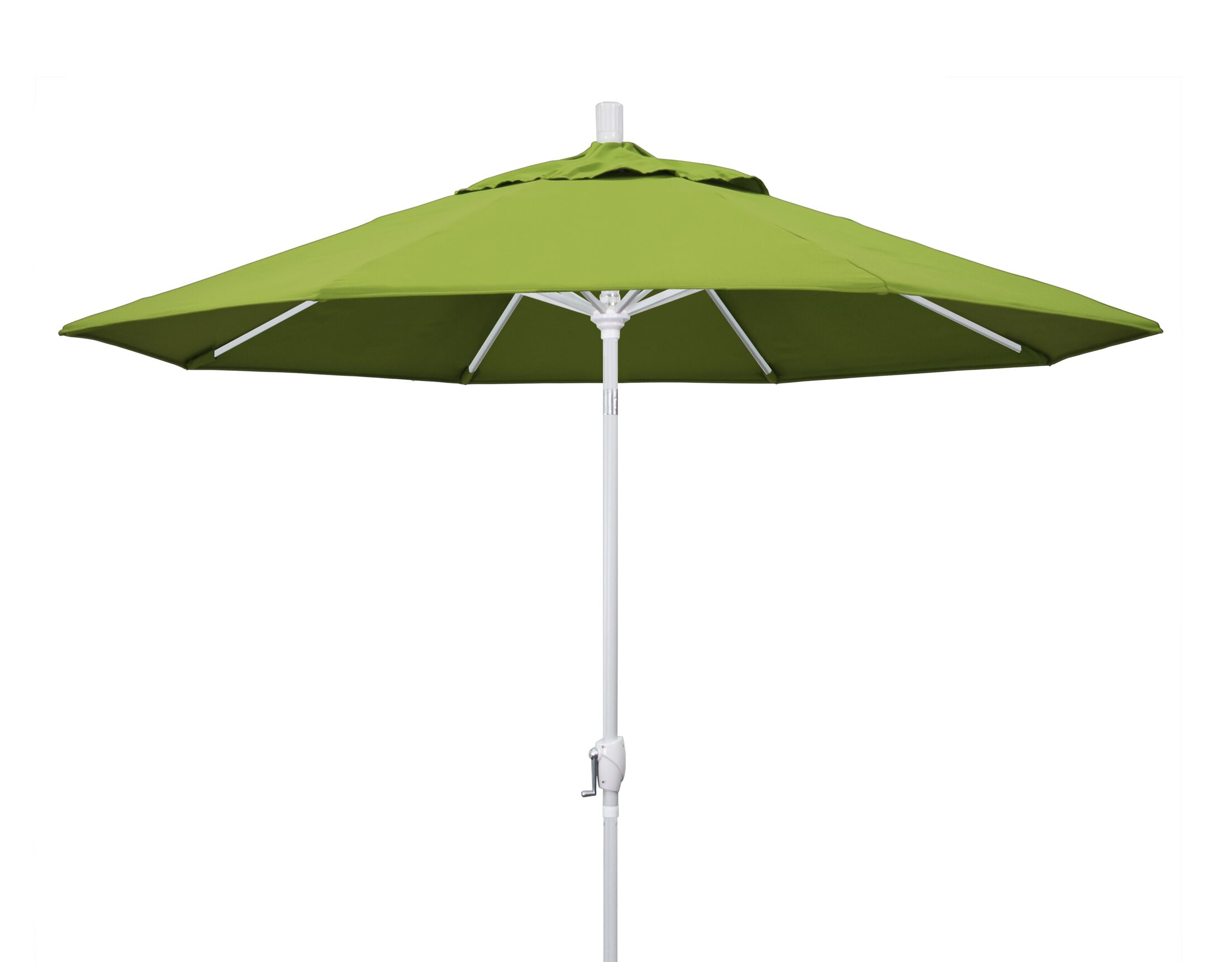 Cello 9' Market Umbrella Frame Finish: Matted White, Fabric: Sunbrella - Macaw