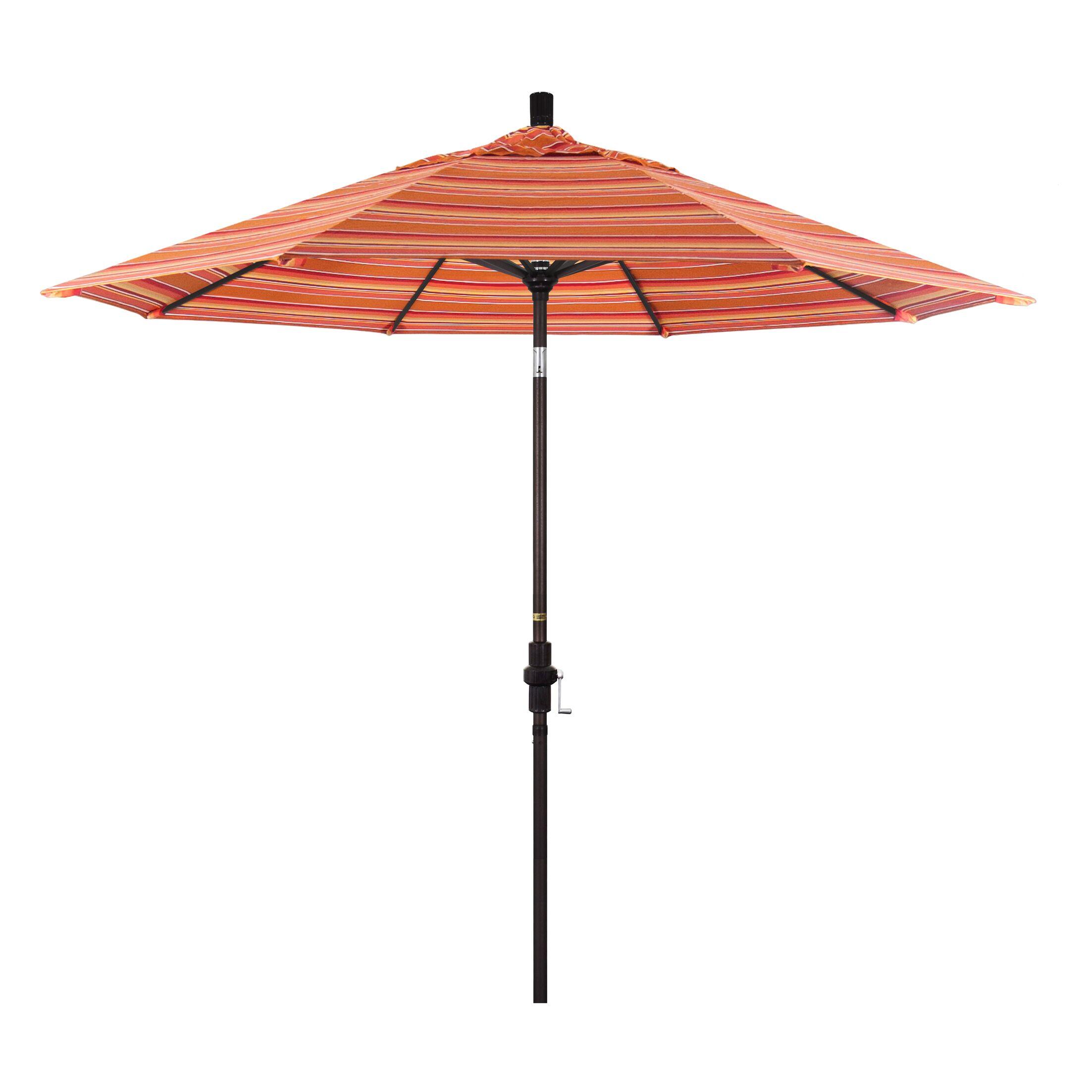 9' Market Umbrella Color: Dolce Mango, Frame Finish: Matted White