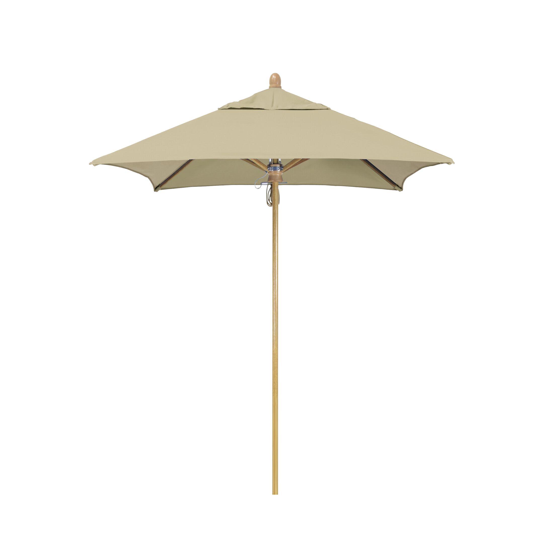 Sierra Series Patio 6' Market Umbrella Fabric Color: Antique Beige, Frame Color: White Oak