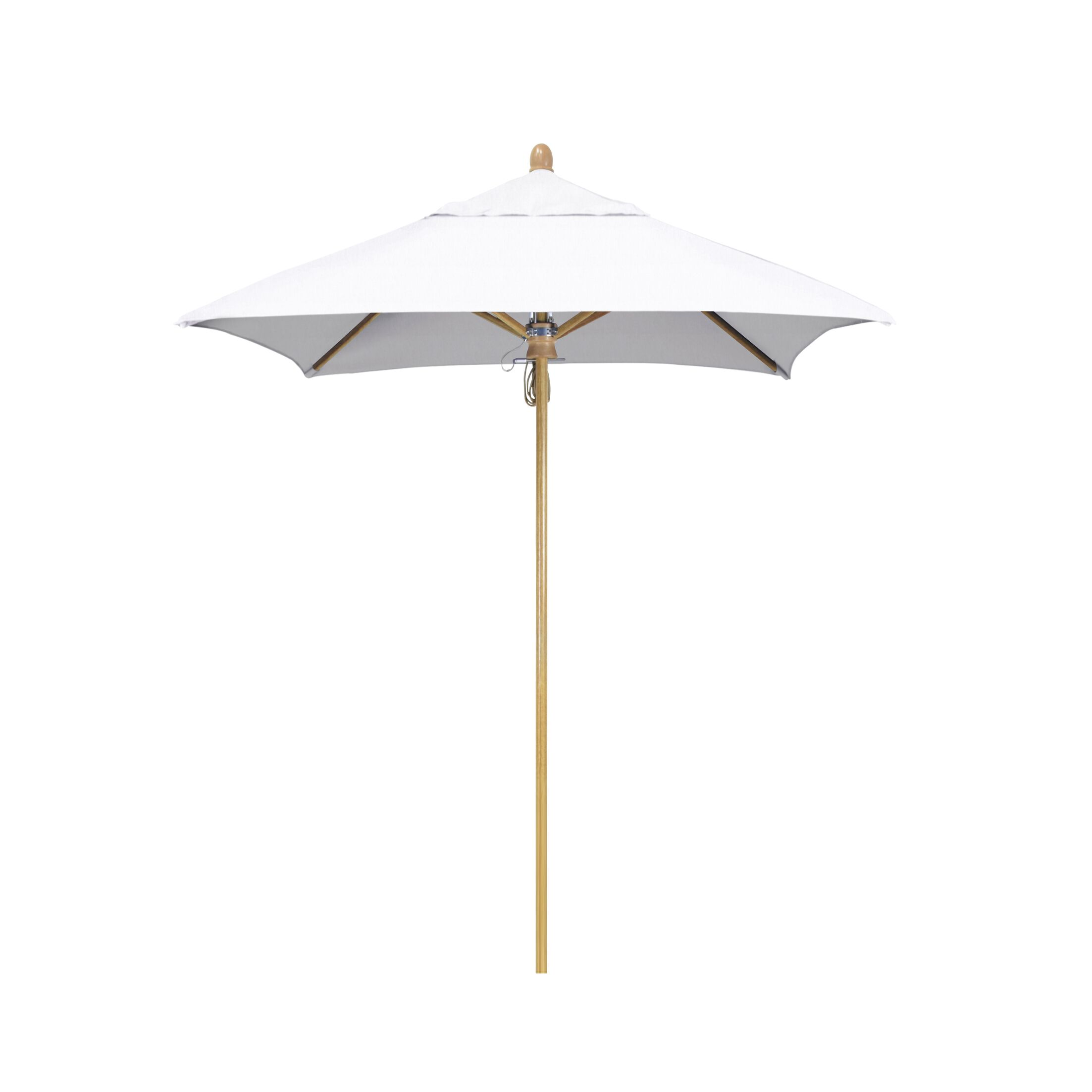 Sierra Series Patio 6' Market Umbrella Fabric Color: Natural, Frame Color: White Oak