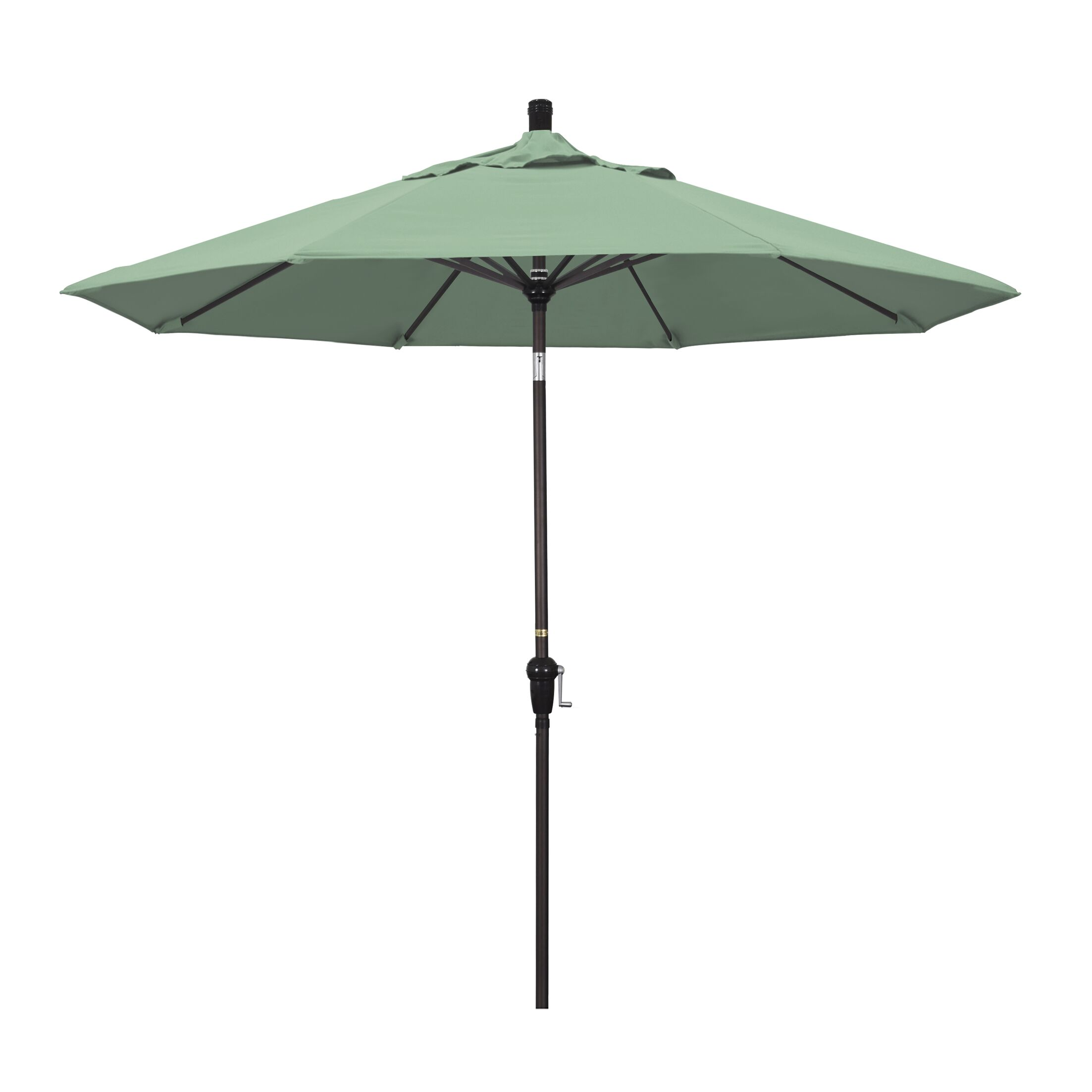 Mullaney 9' Market Umbrella Fabric: Spa, Frame Color: Bronze