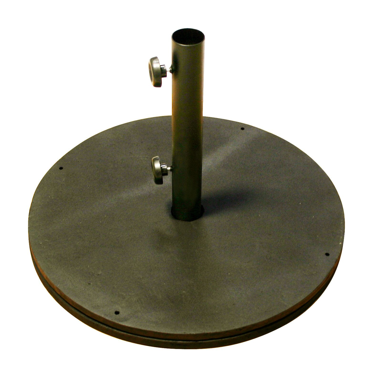 Black Cast Iron Round Umbrella Base