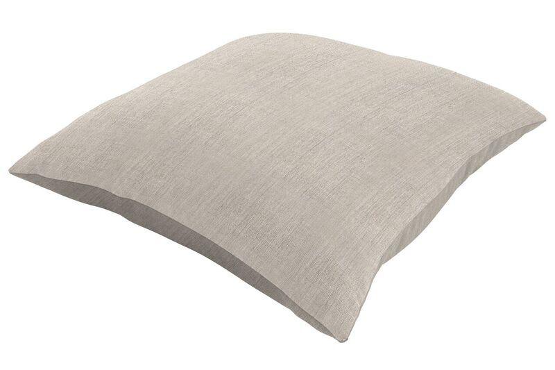 Sunbrella Knife Edge Throw Pillow Color: Cast Silver, Size: 20