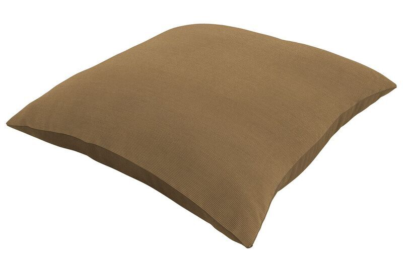Sunbrella Knife Edge Throw Pillow Color: Spectrum Caribou, Size: 24