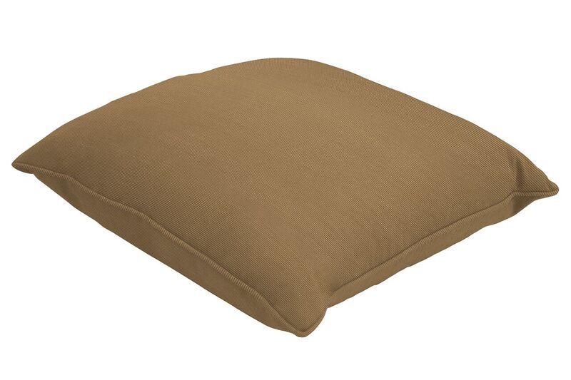 Sunbrella Single Piped Throw Pillow Size: 20