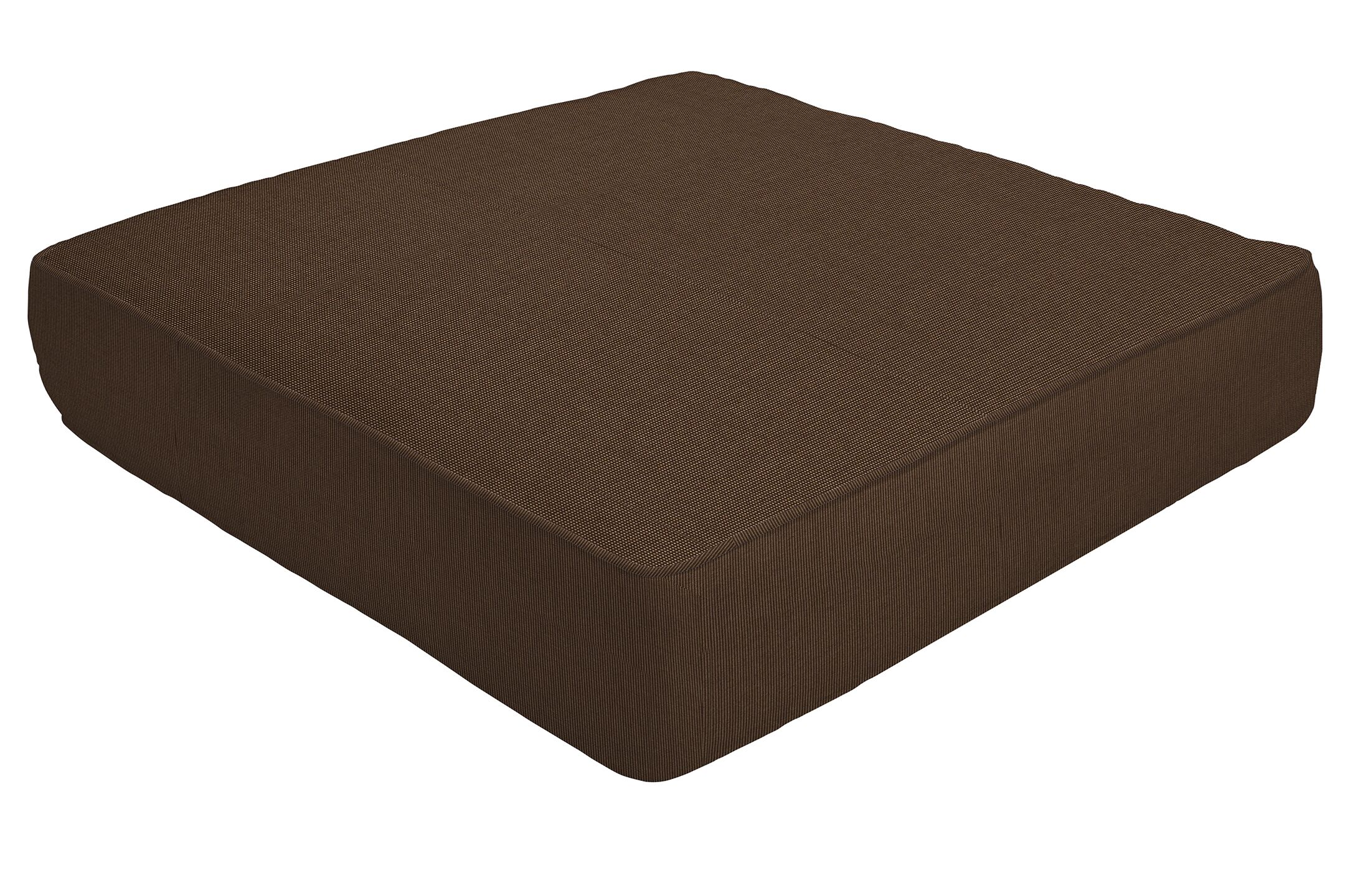 Double Piped Indoor/Outdoor Sunbrella Ottoman Cushion Size: 5