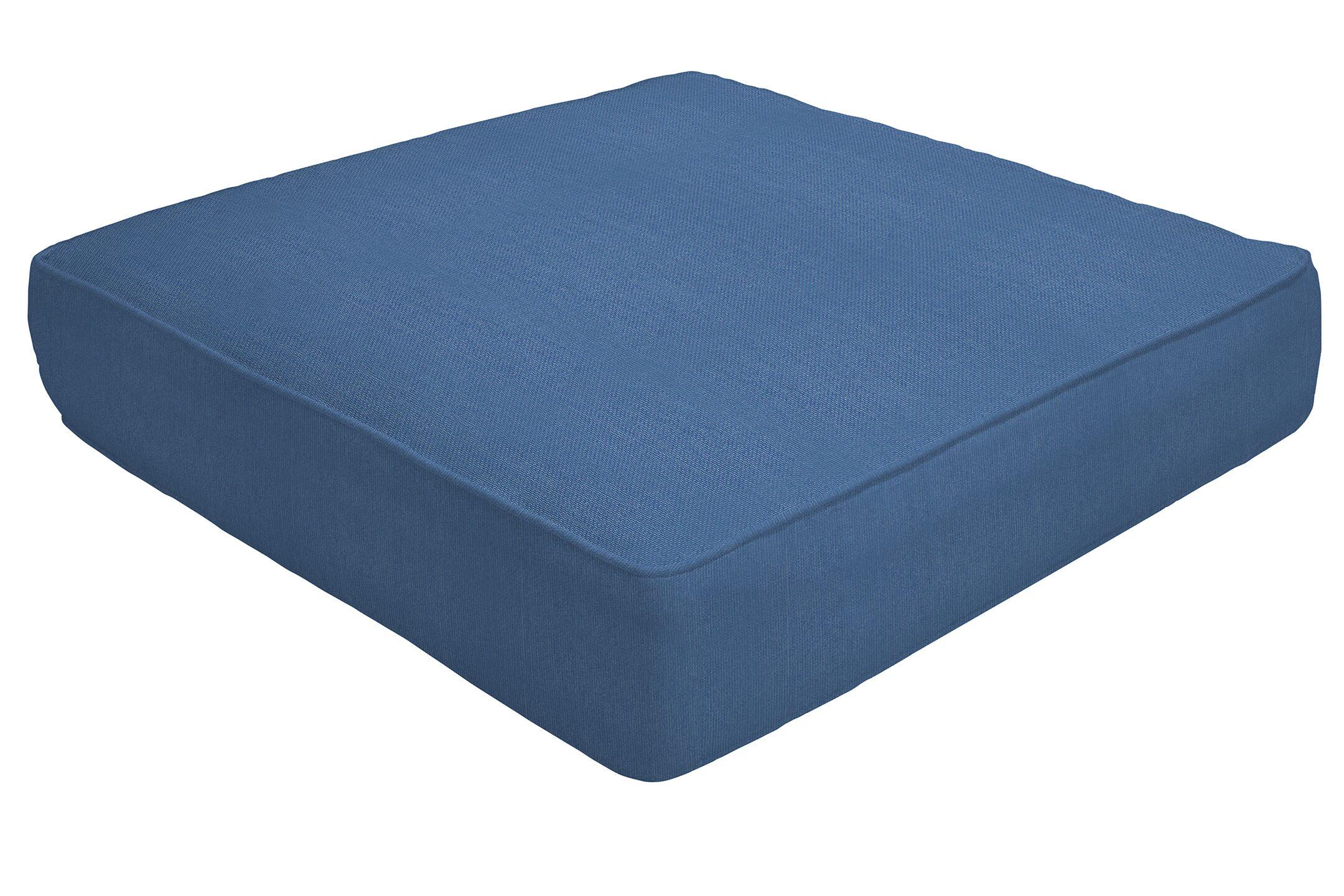 Double Piped Indoor/Outdoor Sunbrella Ottoman Cushion Fabric: Regatta, Size: 5