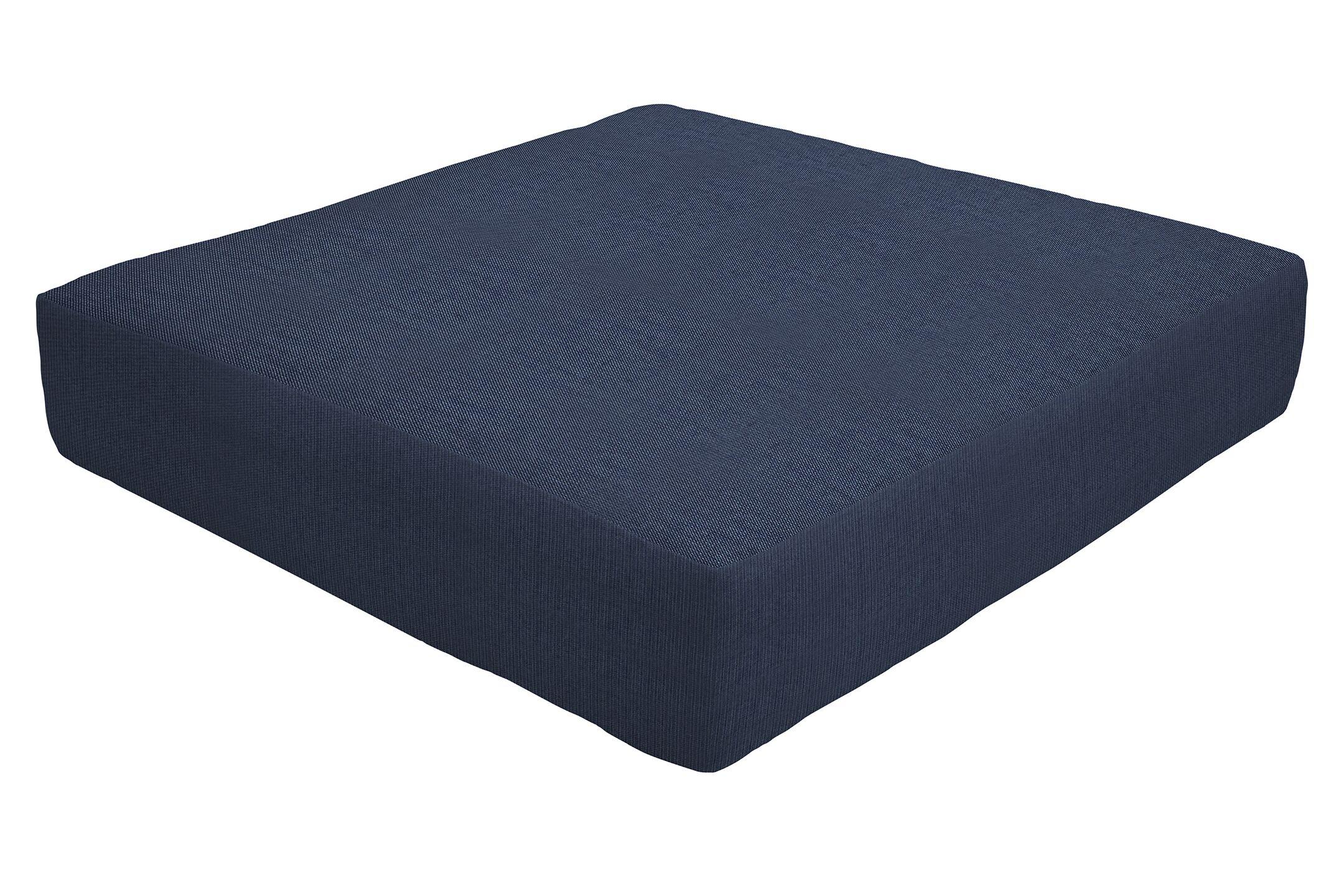 Knife Edge Indoor/Outdoor Sunbrella Ottoman Cushion Fabric: Indigo, Size: 5