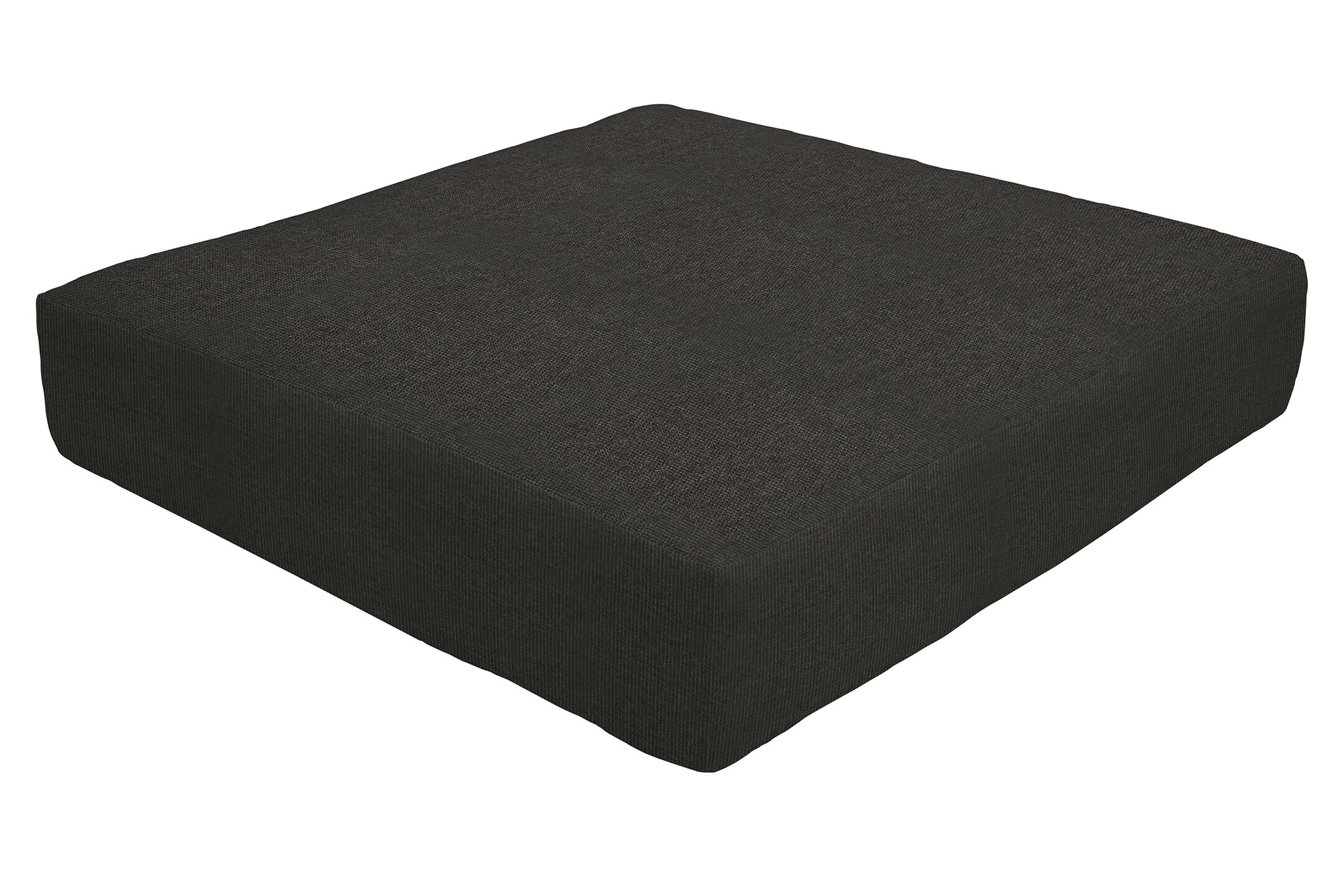 Knife Edge Indoor/Outdoor Sunbrella Ottoman Cushion Fabric: Carbon, Size: 5