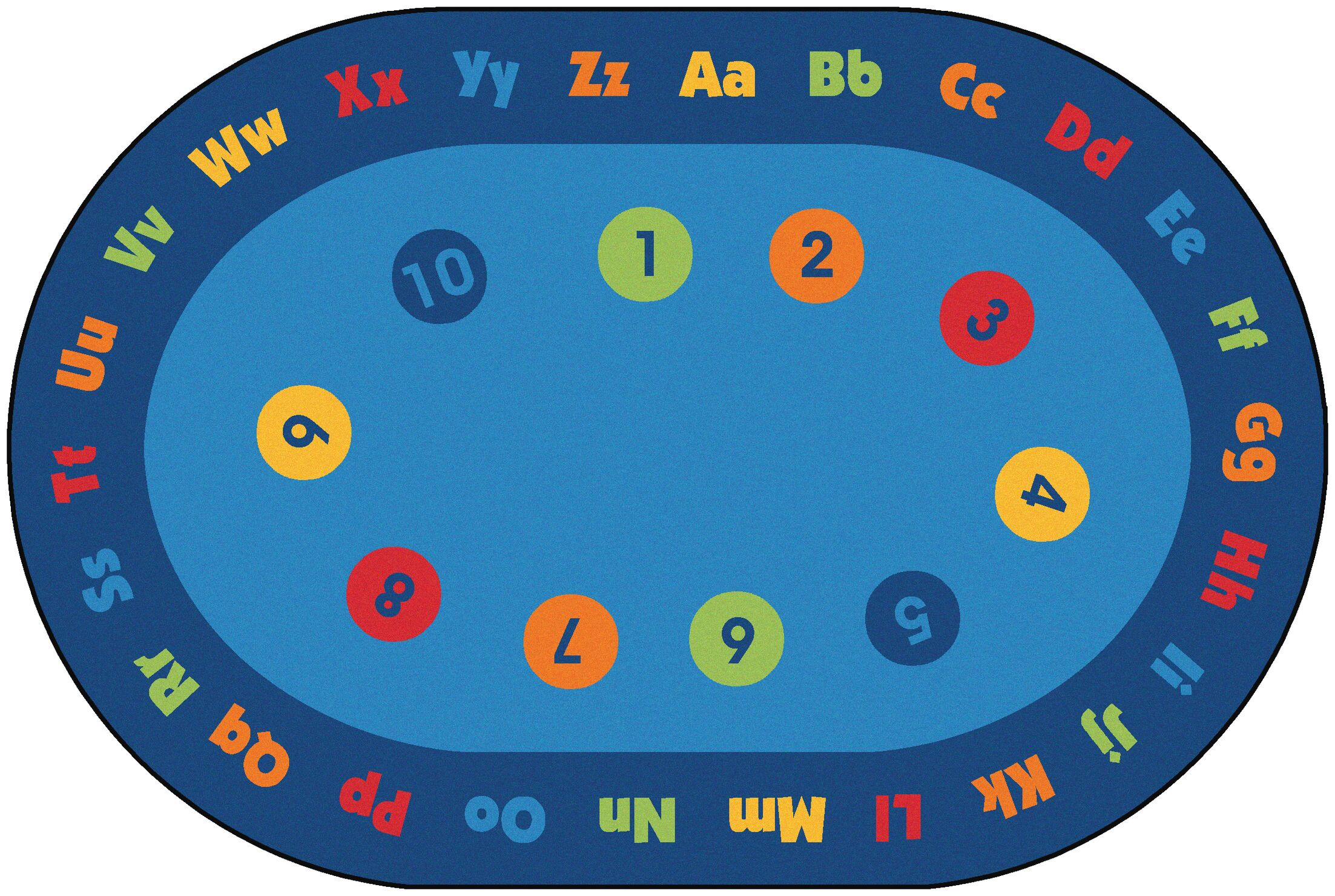 Value Plus Circletime Early Learning Area Rug Rug Size: 8' x 12'