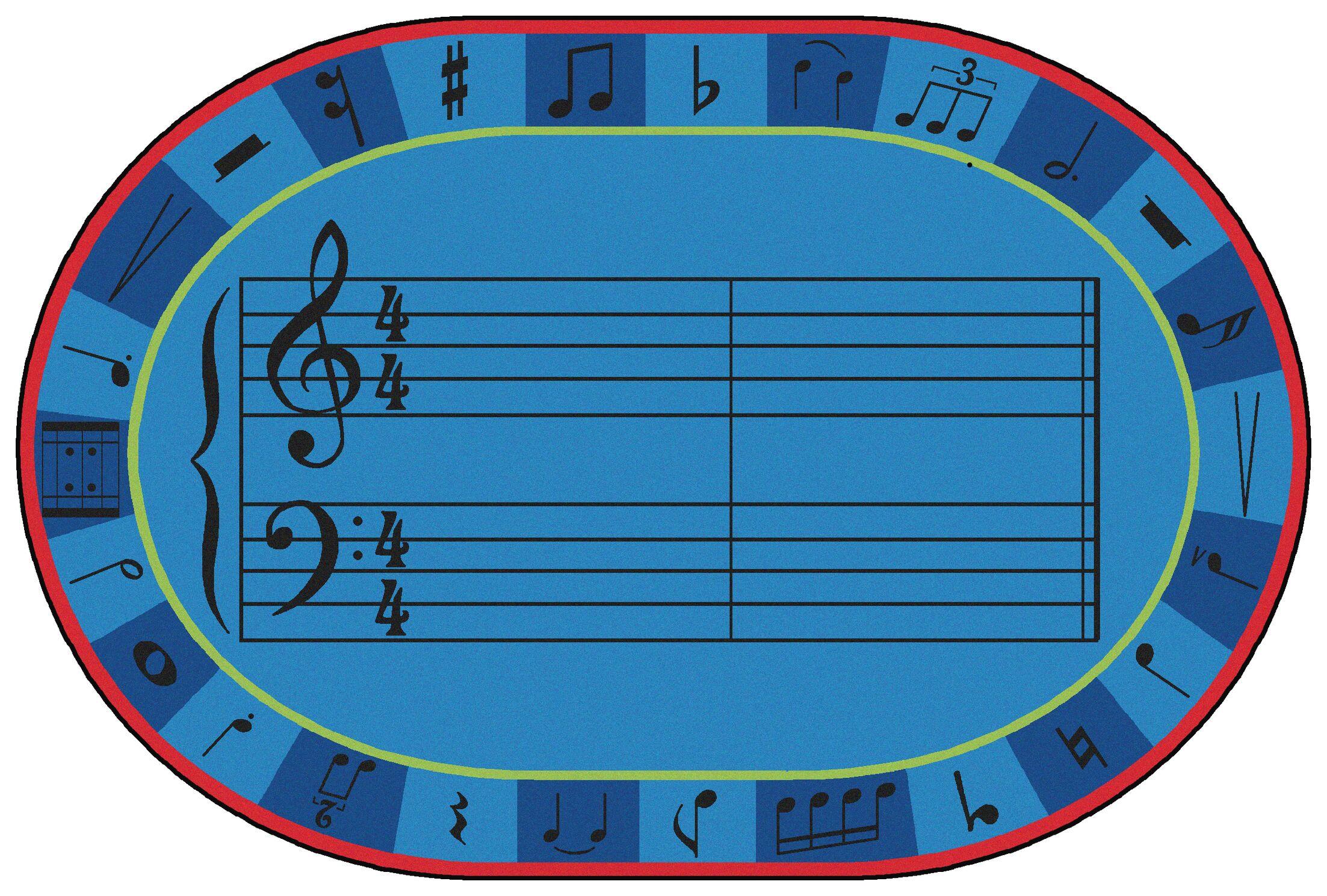 Value Plus A-Sharp Music Area Rug Rug Size: 6' x 9'