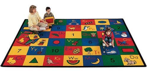 Carpet Kits Shape / Number Block Carpet Squares Rug Size: Square 1'