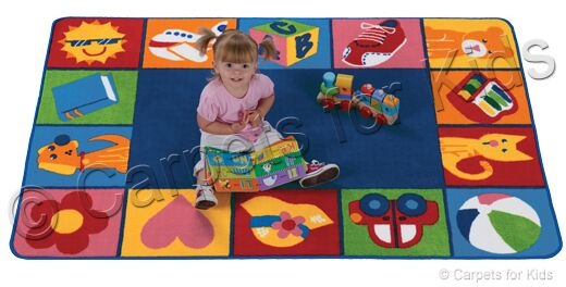 Emerado Toddler Blocks Area Rug Rug Size: 4' x 6'