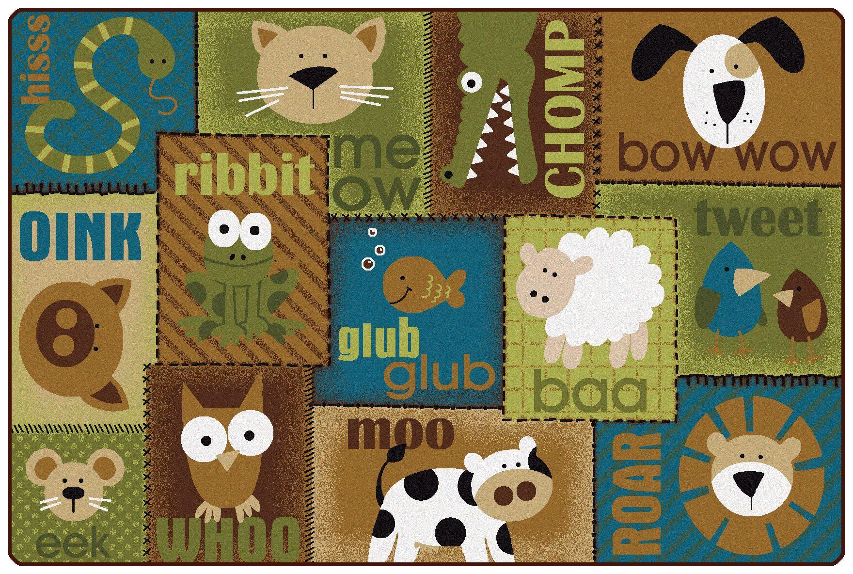 Animal Sounds Kids Rug Rug Size: 4' x 6'