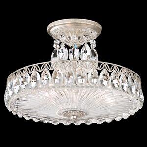 Fontana Luce 3-Light Semi Flush Mount Finish: Silver