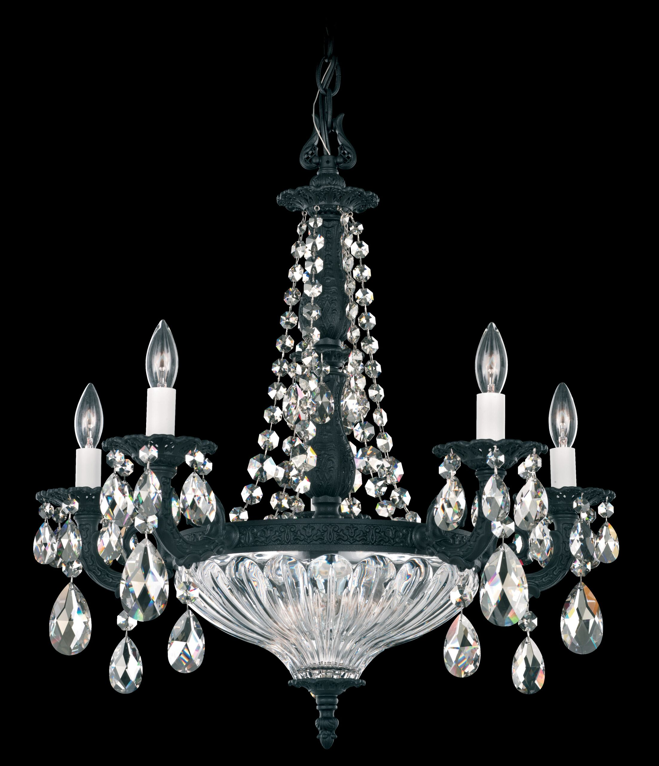 Milano 7-Light Chandelier Finish: Roman Silver, Crystal Color: Strass Silver Shade