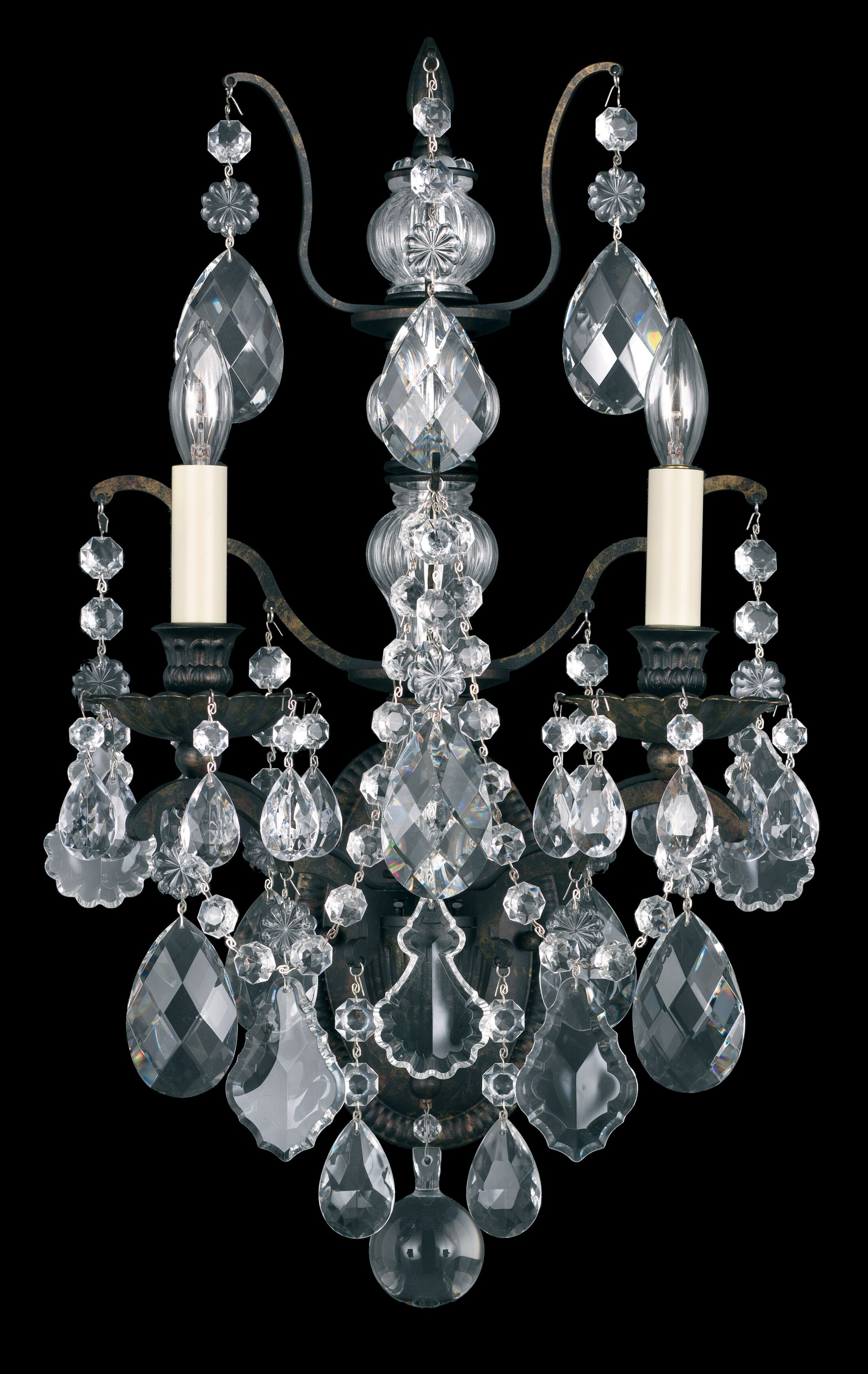 Bordeaux 4-Light Candle Style Chandelier Crystal Type: Legacy Clear, Finish: French Gold