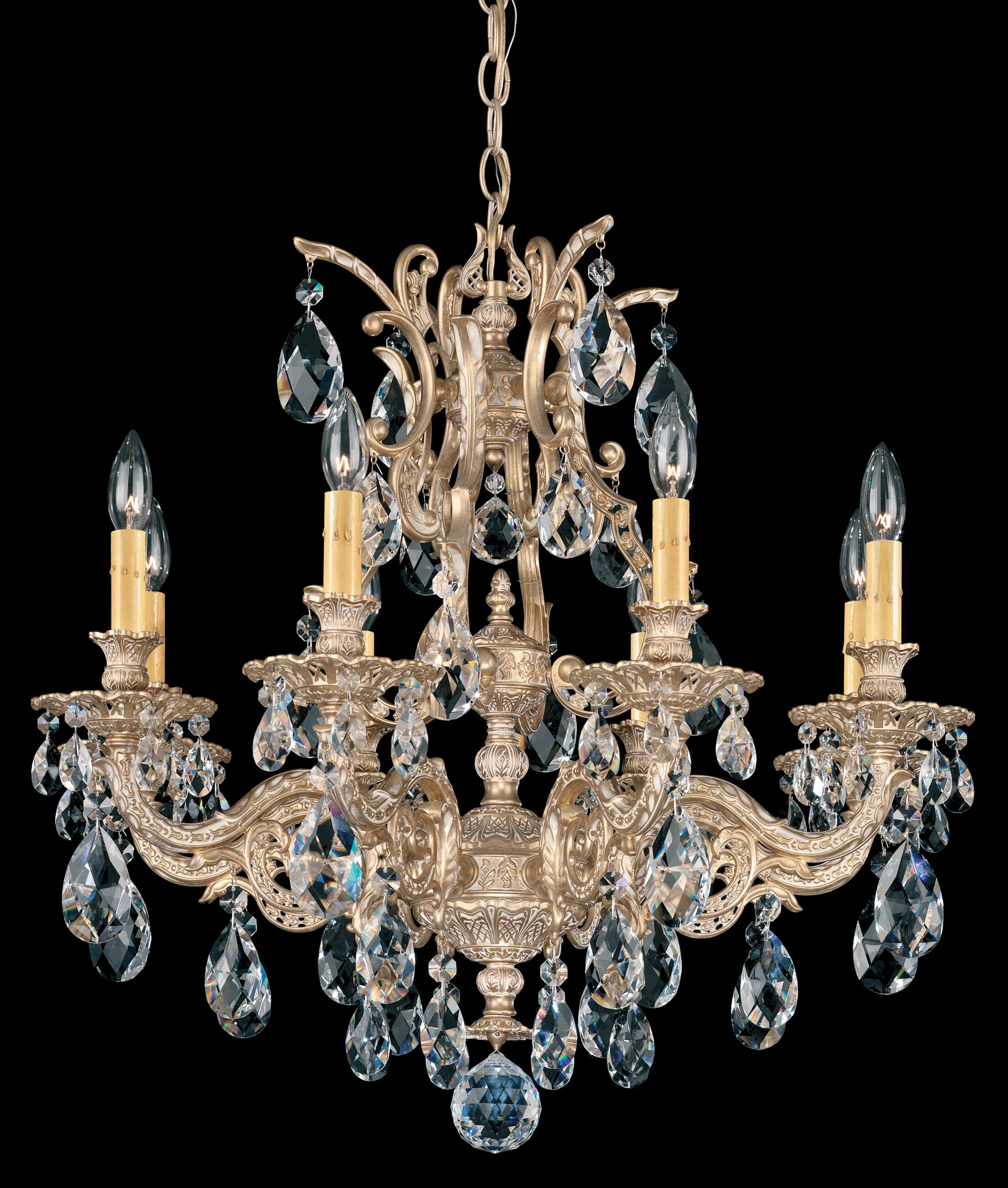 Sophia 8-Light Chandelier Crystal Type: Optic Handcut Clear, Finish: Heirloom Bronze