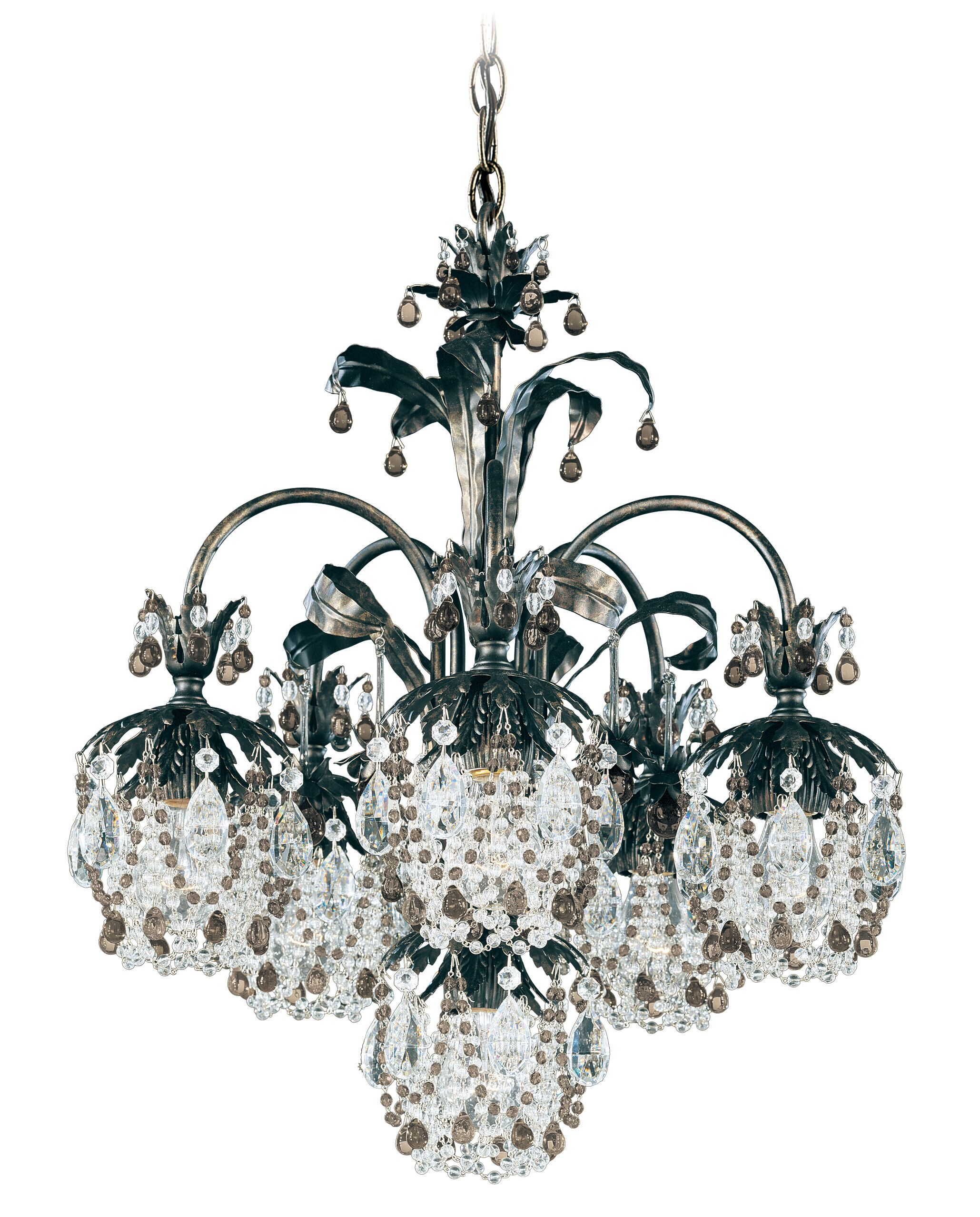 Rondelle 6-Light Shaded Chandelier Finish / Crystal Color: Etruscan Gold / Topaz