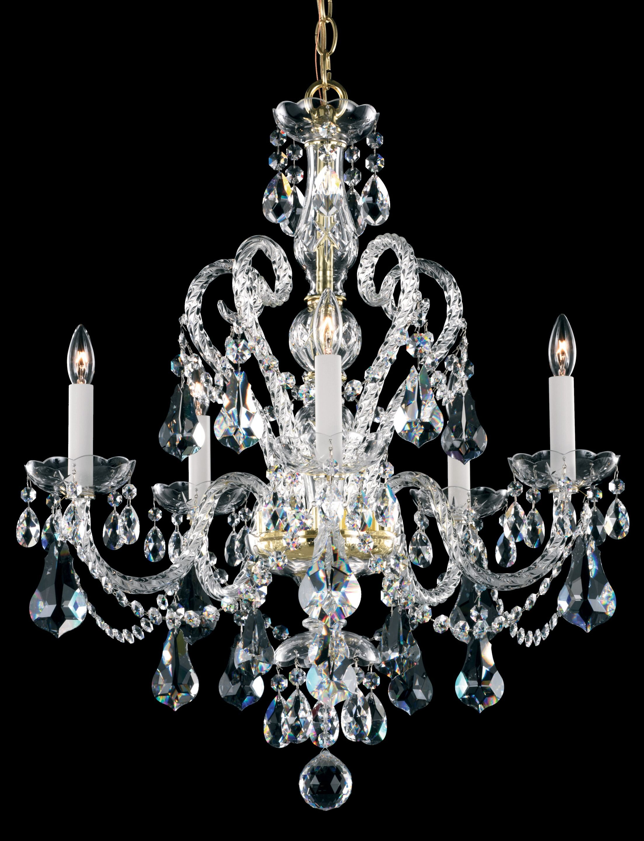 Novielle 5-Light Chandelier Crystal Type: Spectra Clear, Finish: Polished Silver