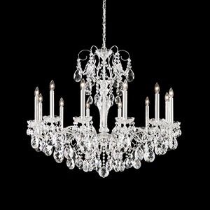 Sonatina 12-Light Chandelier Crystal Type: Heritage Clear, Finish: Black Pearl