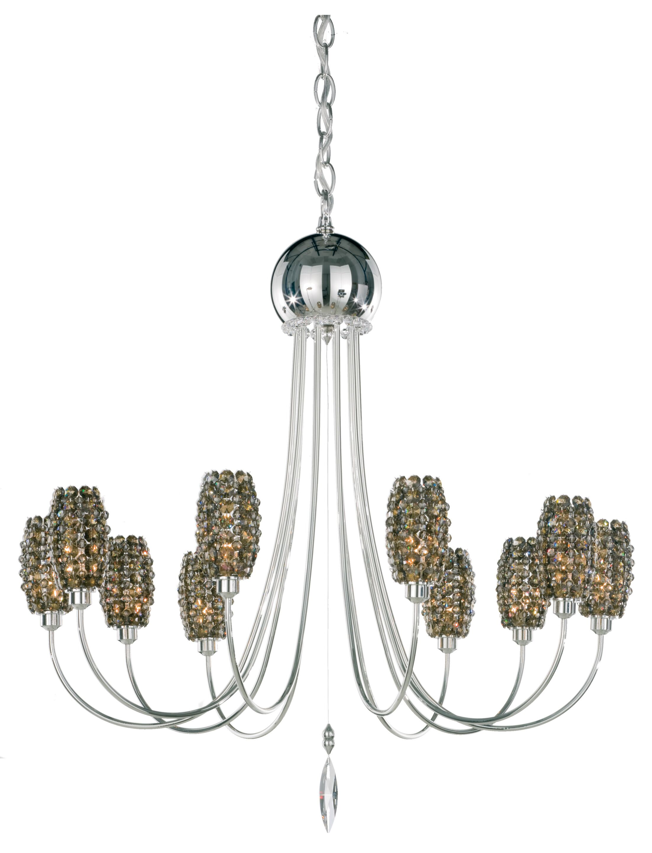 Dionyx 10-Light Shaded Chandelier Crystal Type: Swarovski Elements Bullet