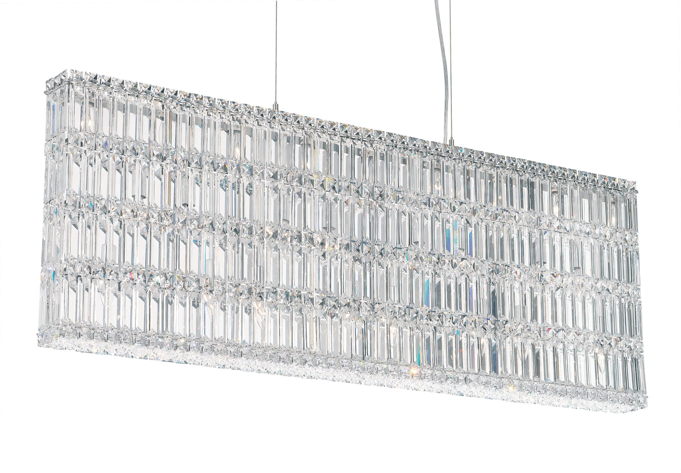 Quantum 37-Light Rectangle Pendant Height / Crystal Color: 21