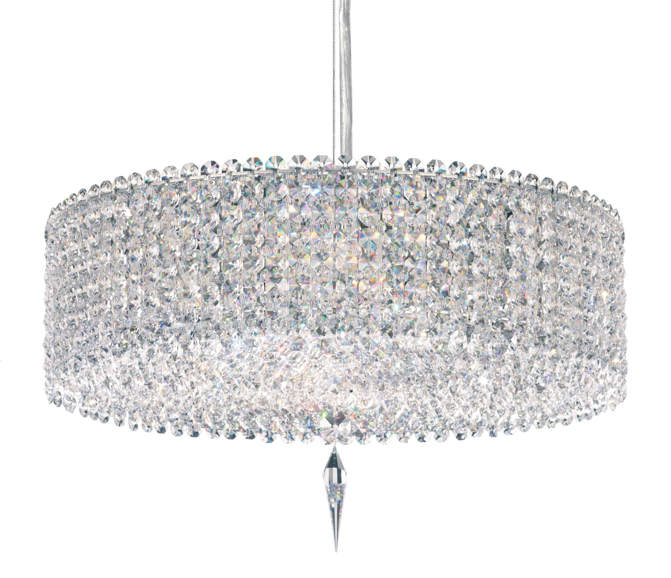 Matrix 5-Light Crystal Chandelier Crystal Type: Swarovski Elements Travertine