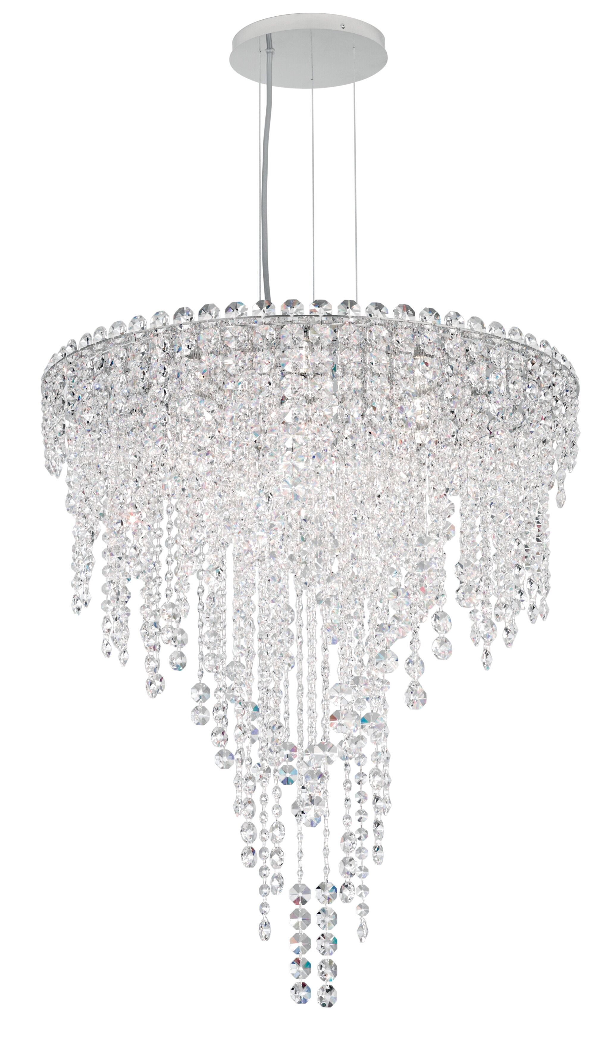 Chantant 6-Light Crystal Chandelier Crystal Type: Heritage Handcut Clear