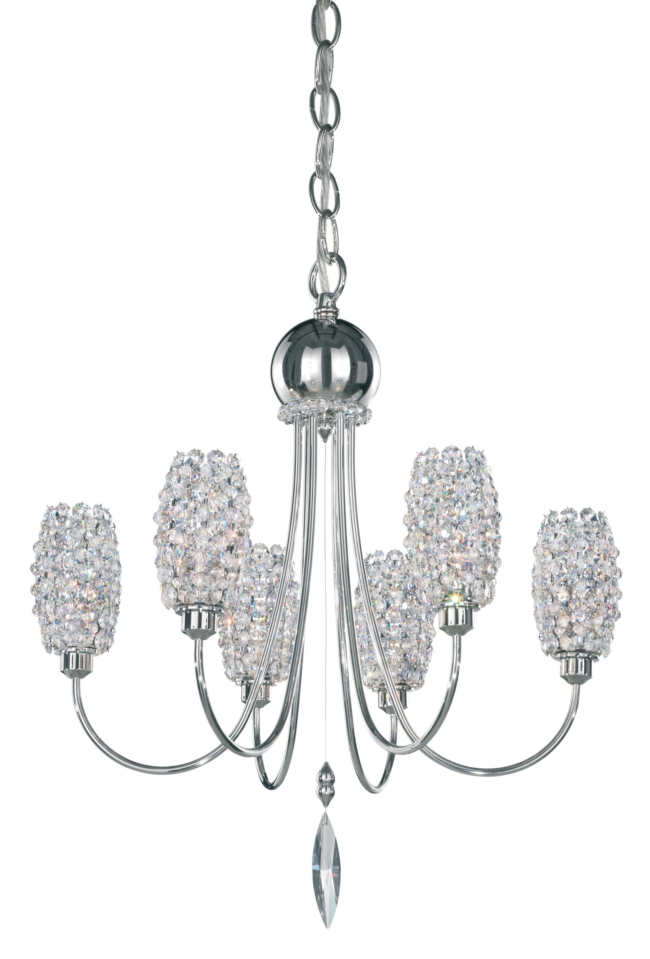 Dionyx 6-Light Shaded Chandelier Crystal Grade: Swarovski Elements Ocelot