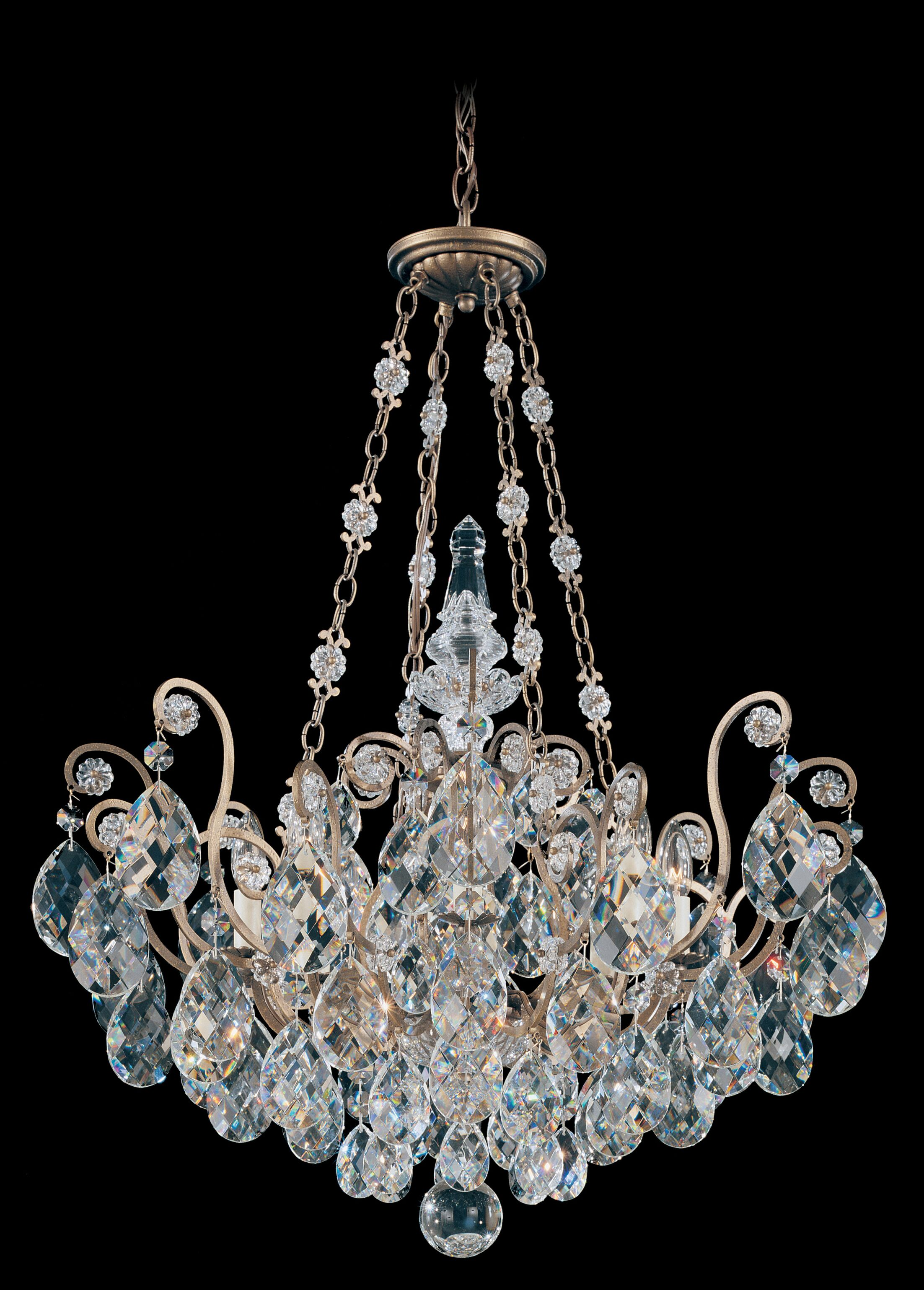 Renaissance 8-Light Chandelier Finish: French Gold, Crystal Type: Heritage Clear