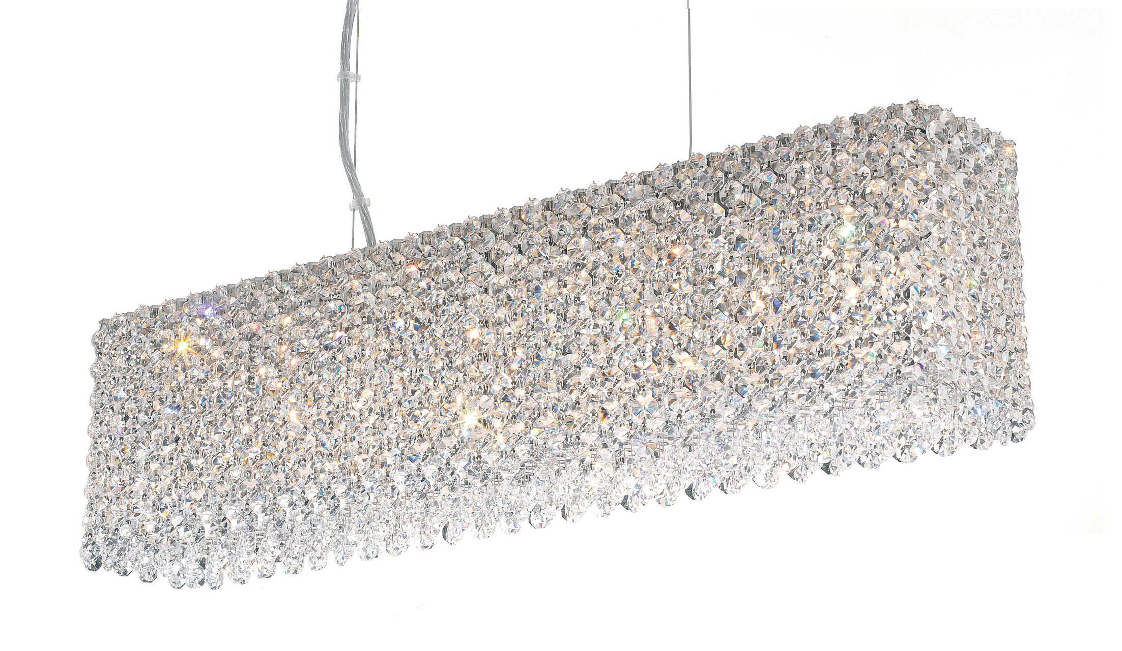 Refrax 7-Light Kitchen Island Pendant Crystal Type: Spectra Clear