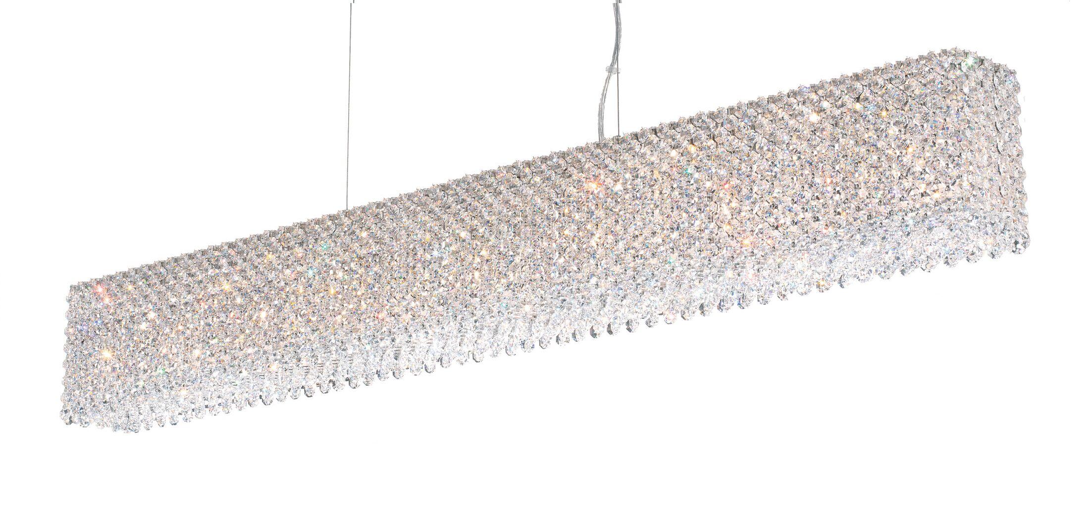Refrax 15-Light Kitchen Island Pendant Crystal Type: Swarovski Elements Azurite