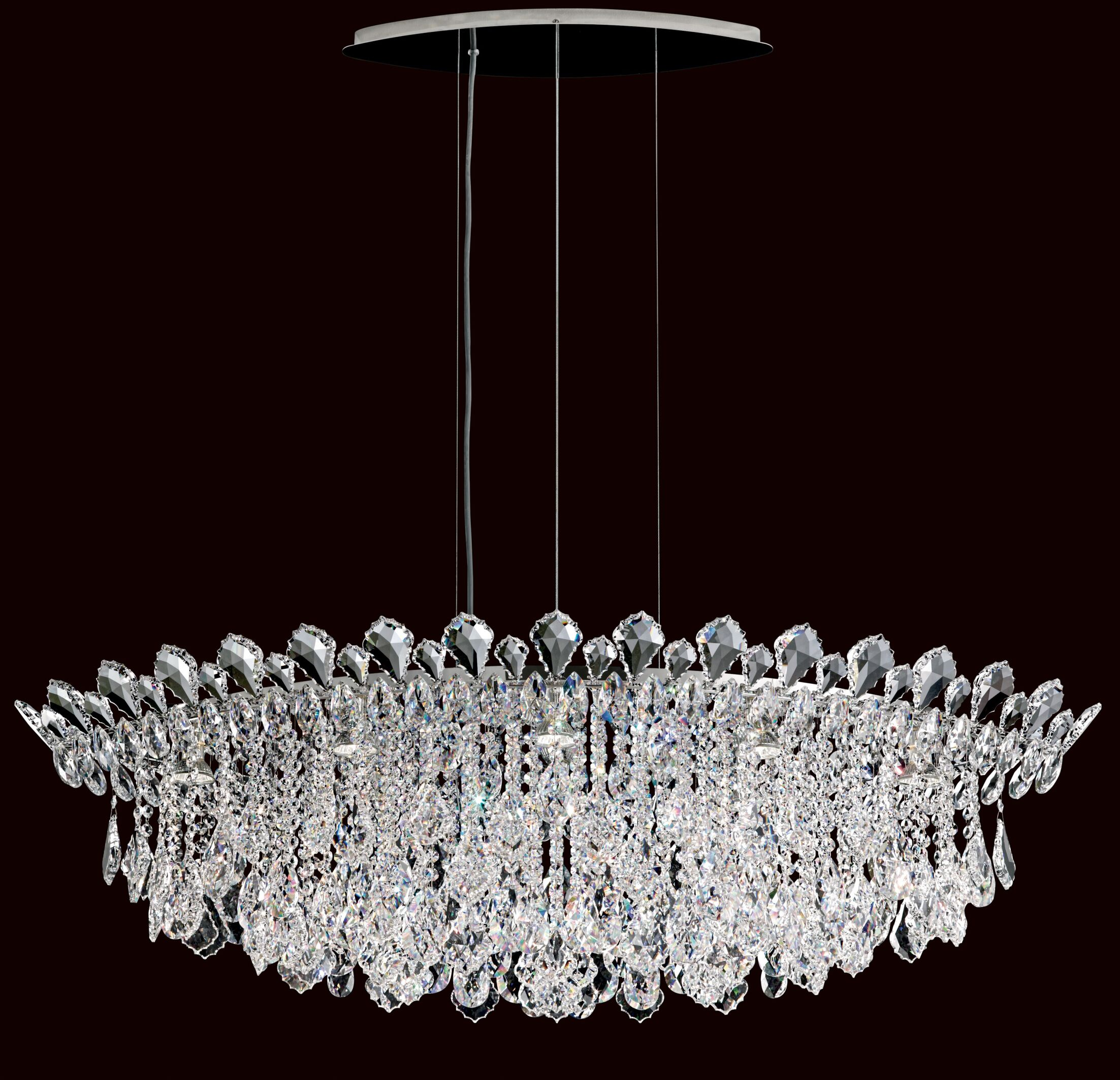 Trilliane 8-Light Kitchen Island Pendant Crystal Type: Spectra Clear