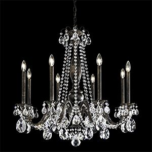 Alea 8-Light Chandelier Crystal Type: Spectra Clear, Finish: Roman Silver