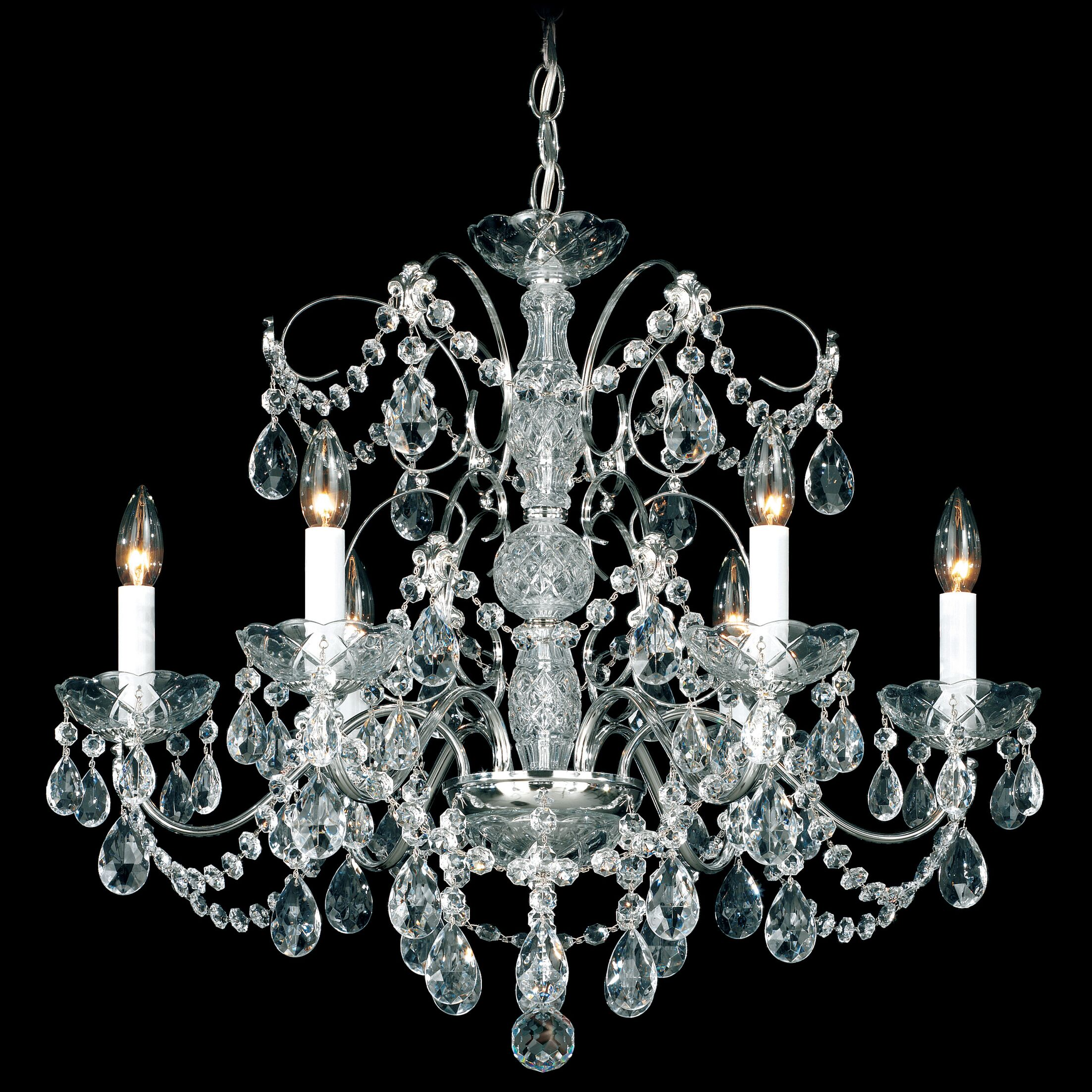 Madison 6-Light Chandelier Finish: Silver
