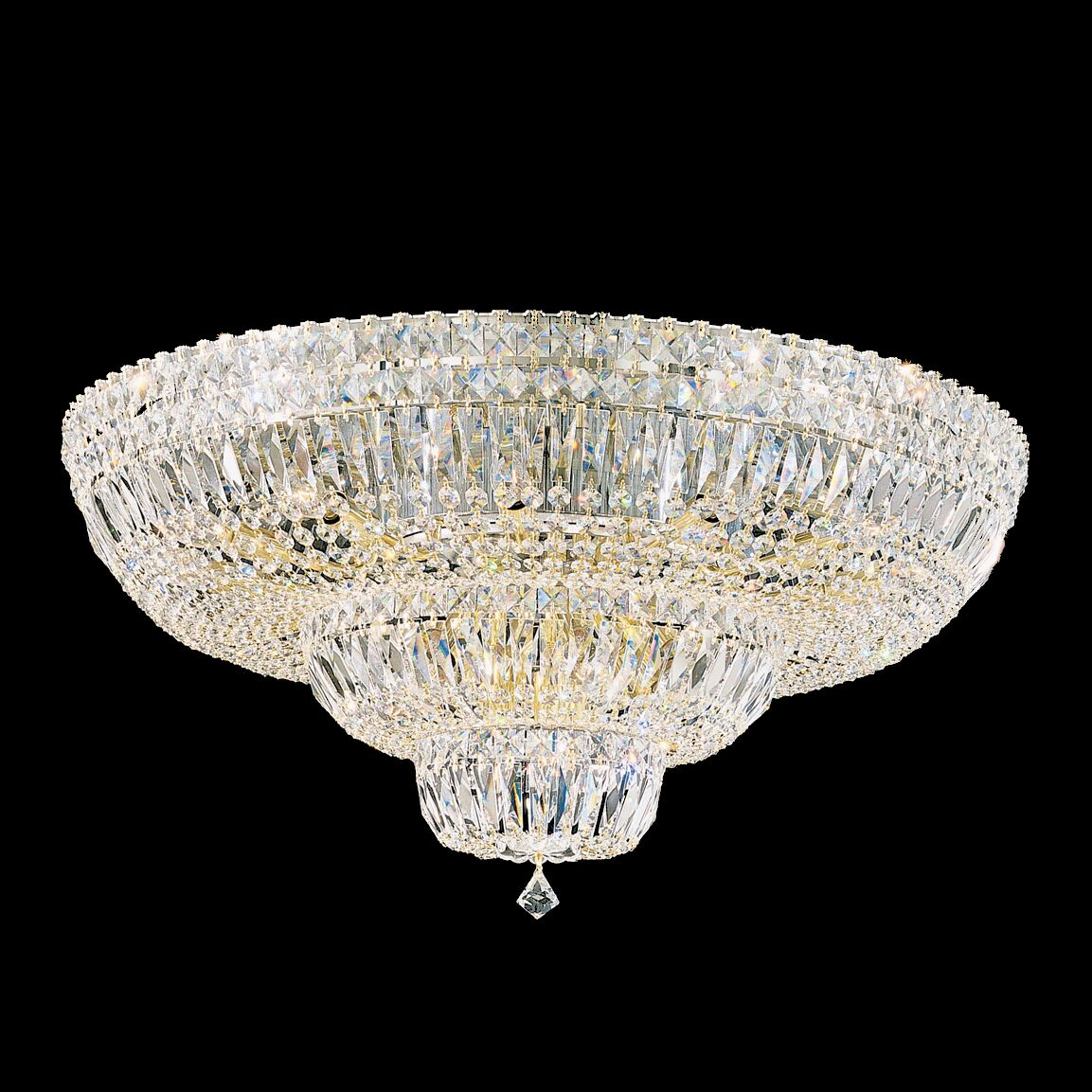 Petit Flush Mount Finish: Aurelia, Crystal Type: Swarovski Elements Clear