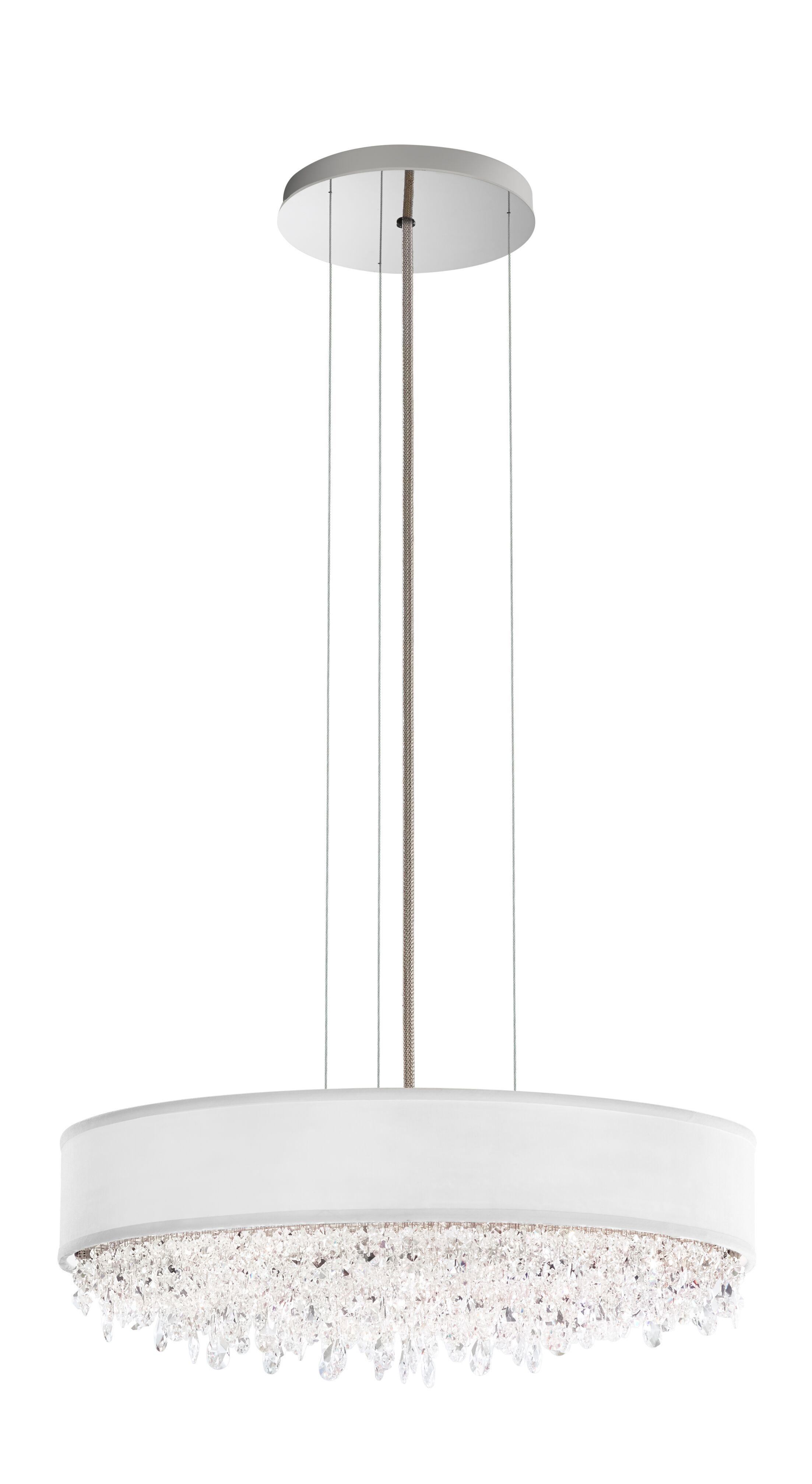 Eclyptix Crystal Chandelier Crystal: Swarovski, Shade Color: White, Size: 6.5