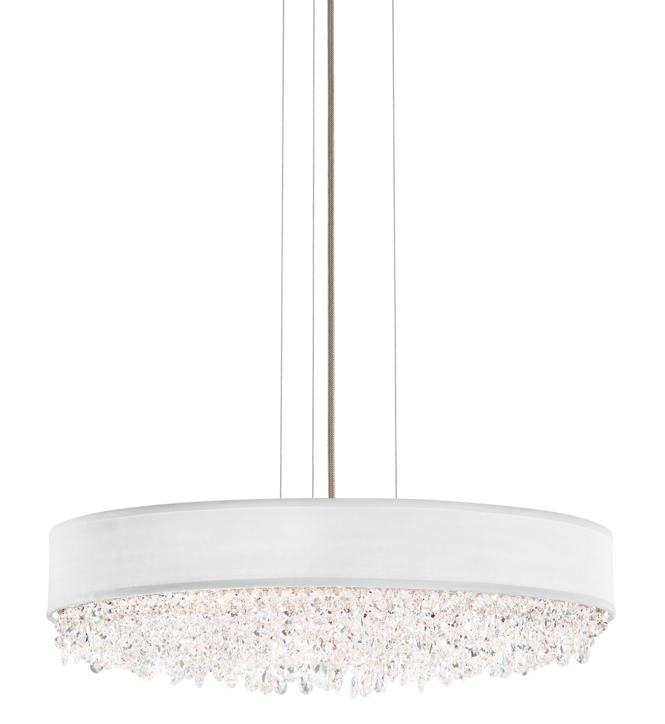 Eclyptix Crystal Chandelier Shade Color: White, Size: 6.5
