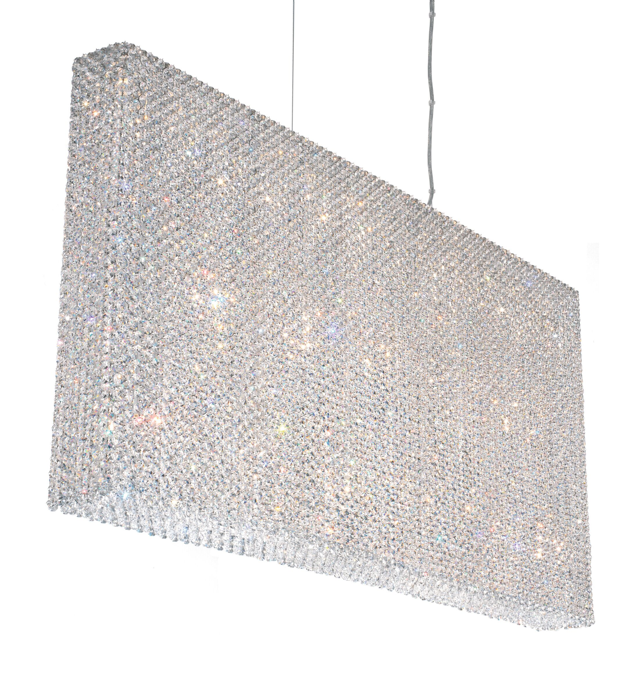 Refrax 12-Light Crystal Chandelier Crystal: Black Diamond Swarovski