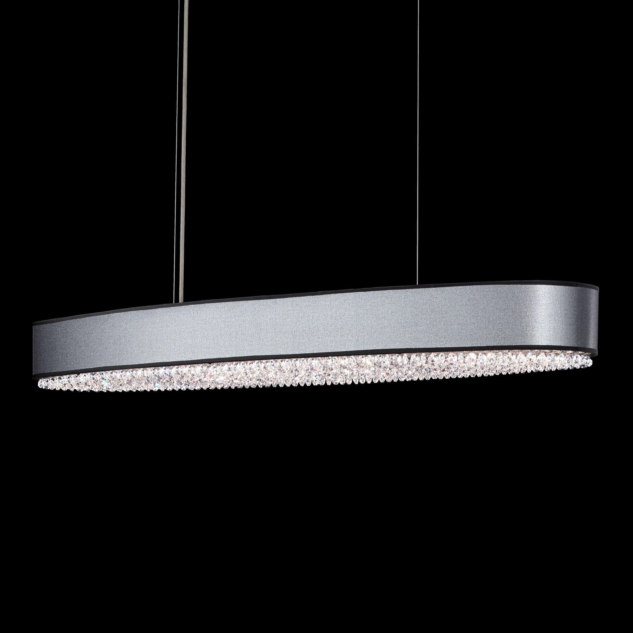 Eclyptix 10-Light Kitchen Island Pendant Shade Color: Black, Crystal: Swarovski Clear Crystal