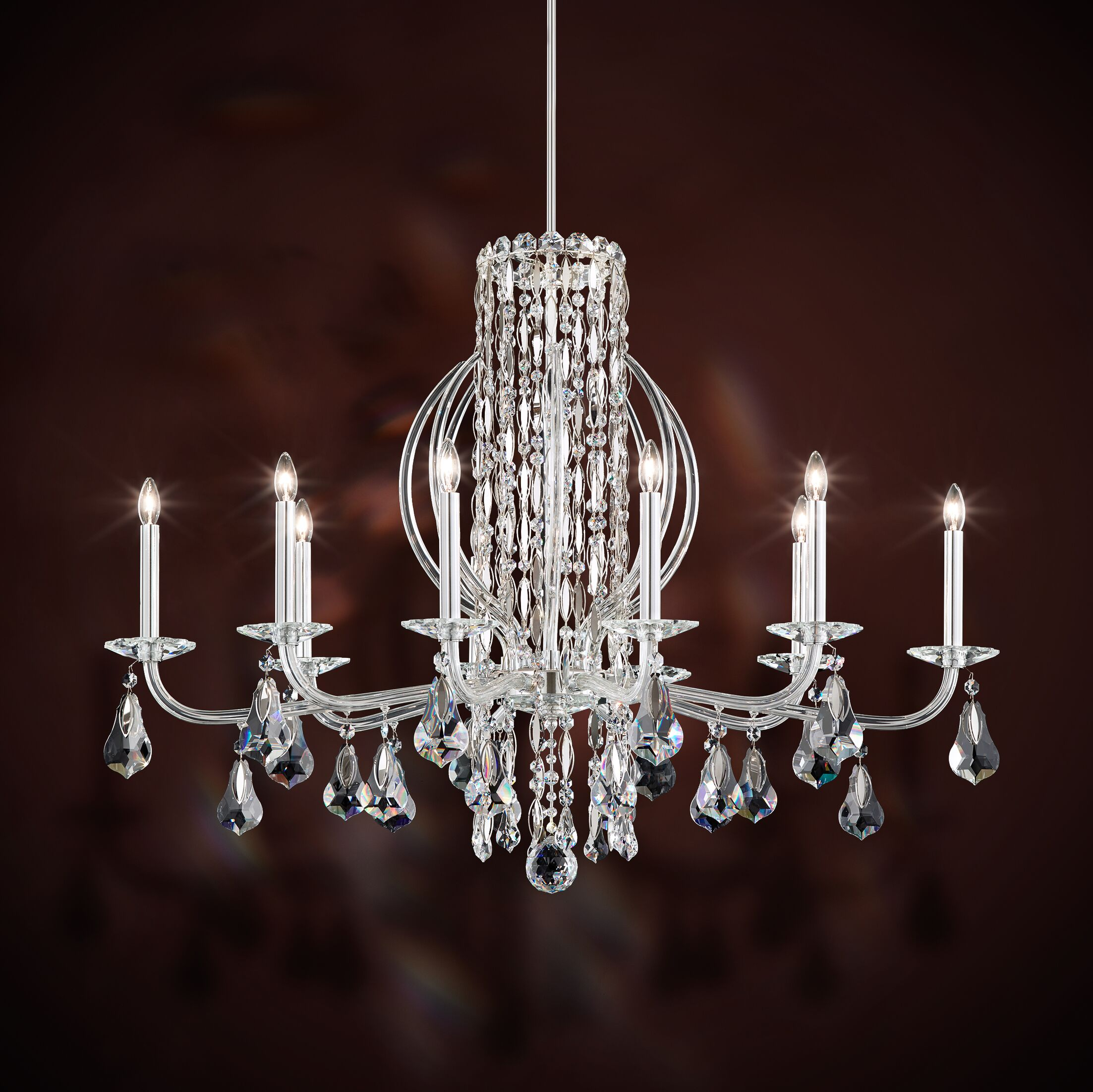 Sarella 10-Light Chandelier Finish: Antique Silver, Crystal: Heritage Clear Crystal
