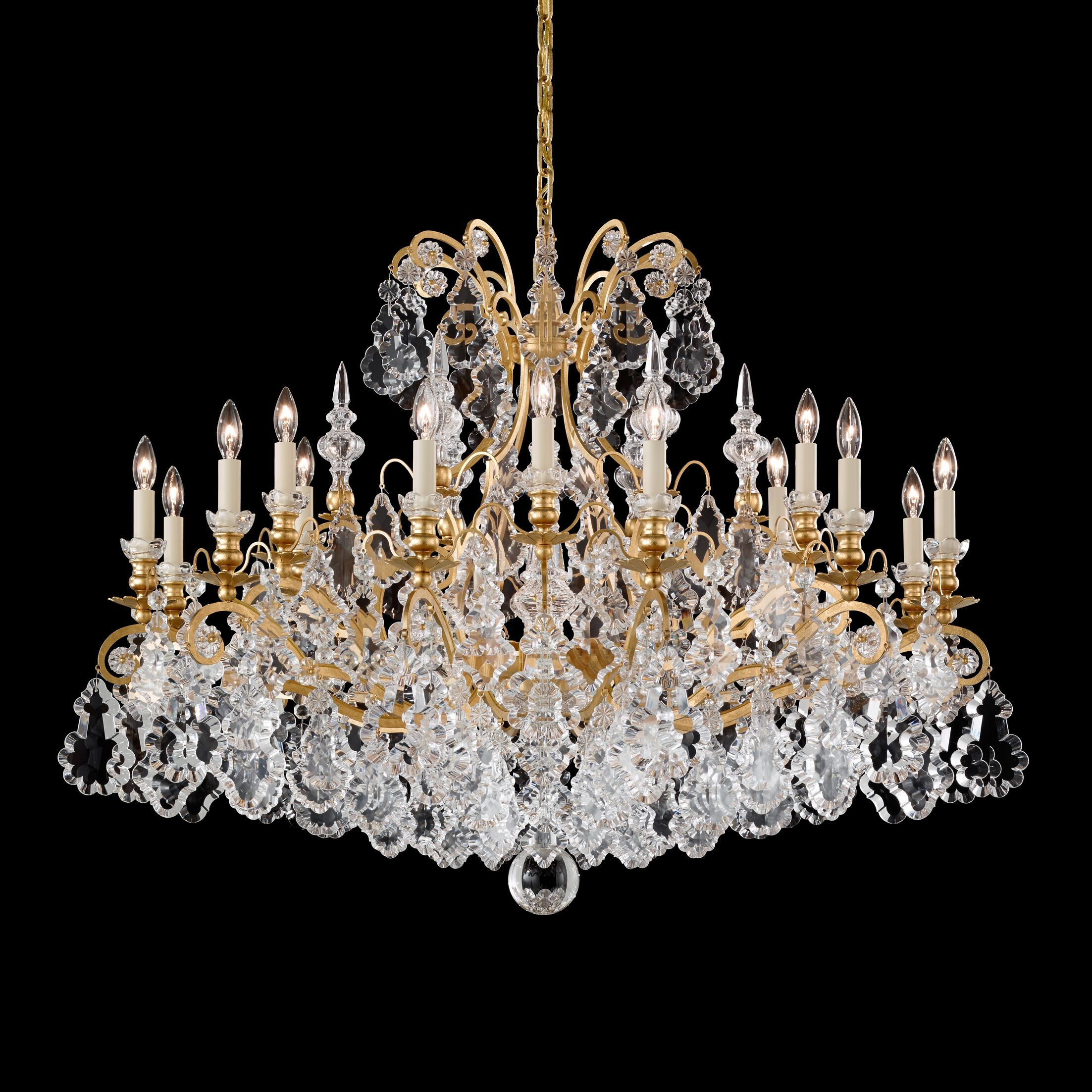 Versailles 18-Light Candle Style Chandelier Finish: Etruscan Gold