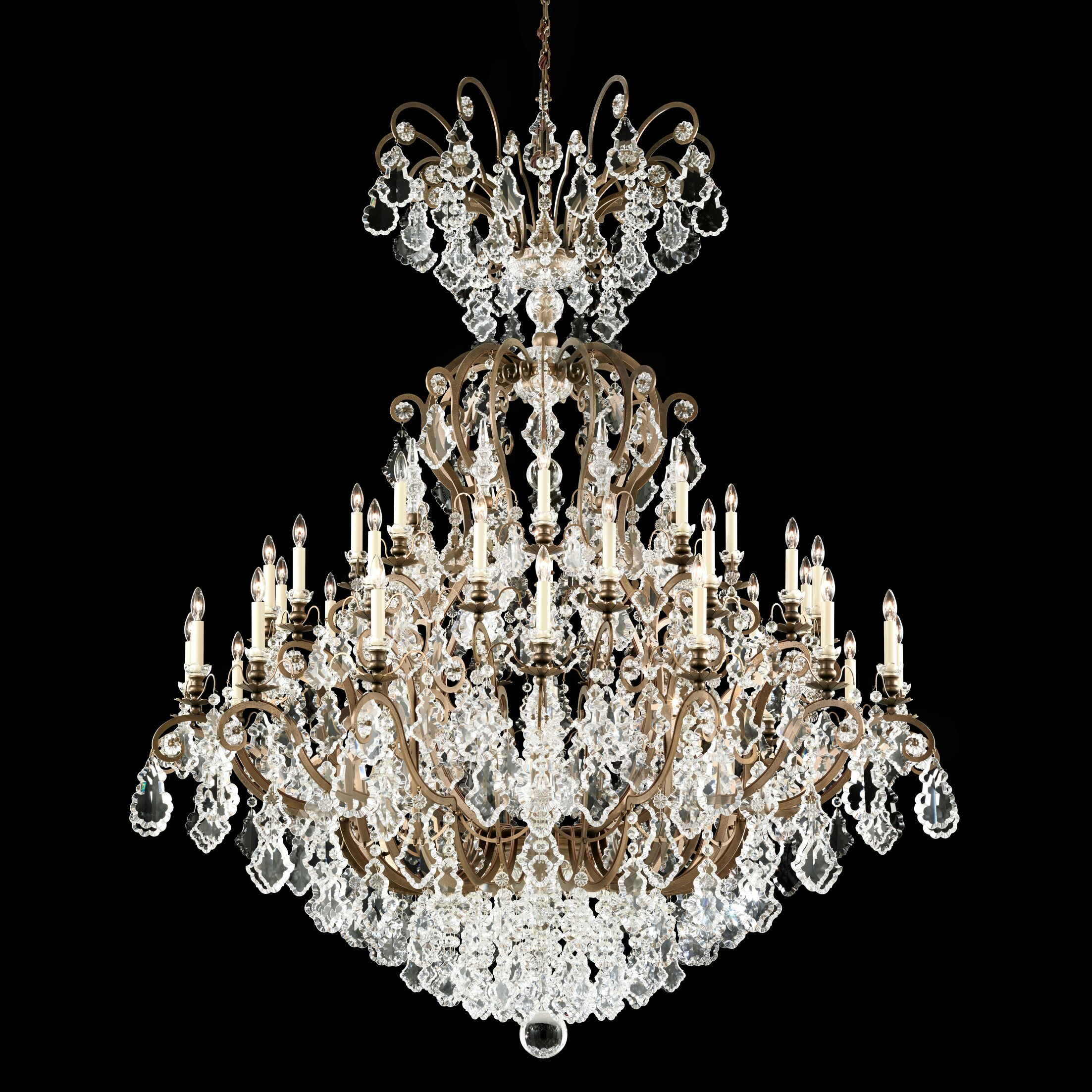 Versailles 40-Light Candle Style Chandelier Finish: Etruscan Gold