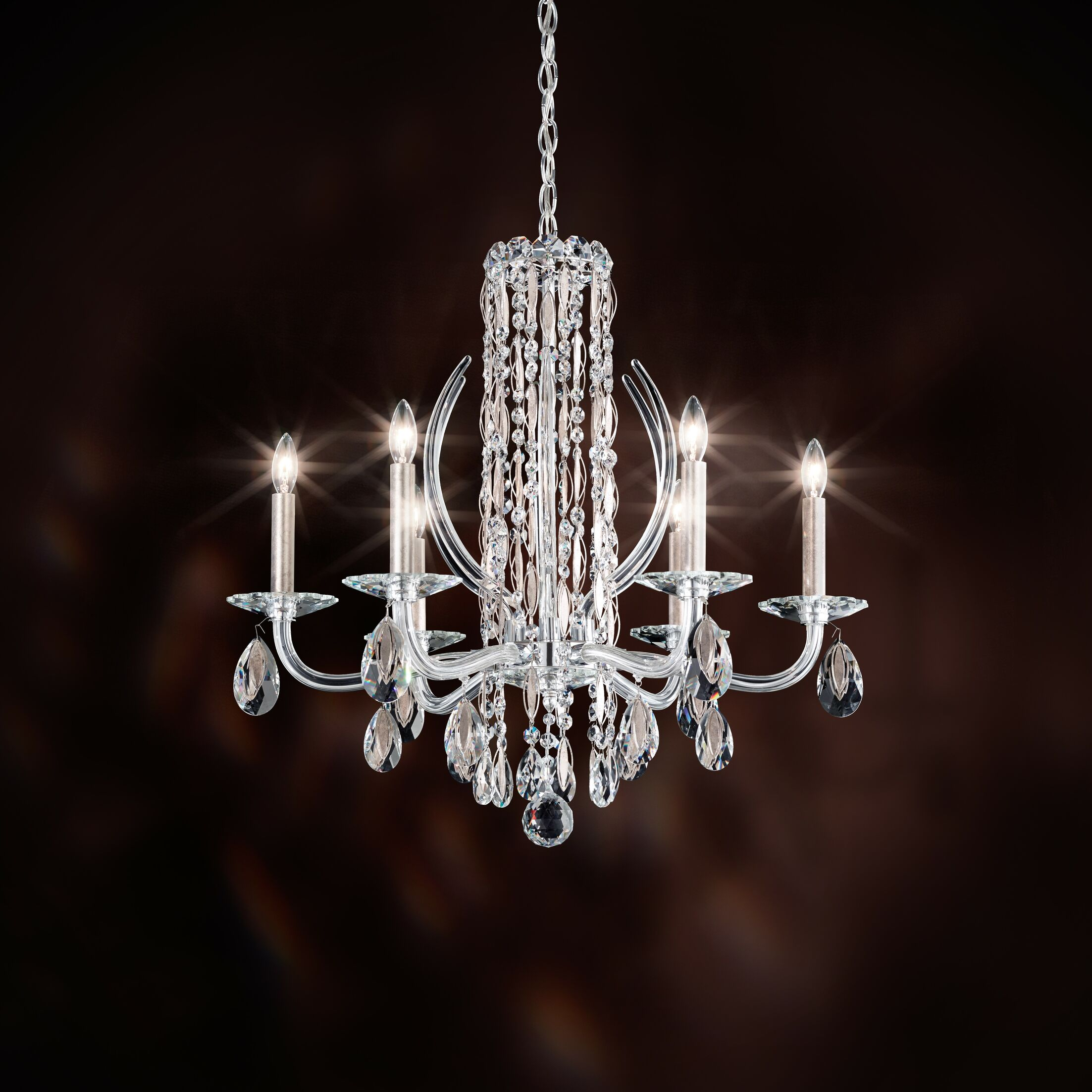 Sarella 6-Light Chandelier Finish: Polished Stainless Steel, Crystal: Spectra Crystal Clear